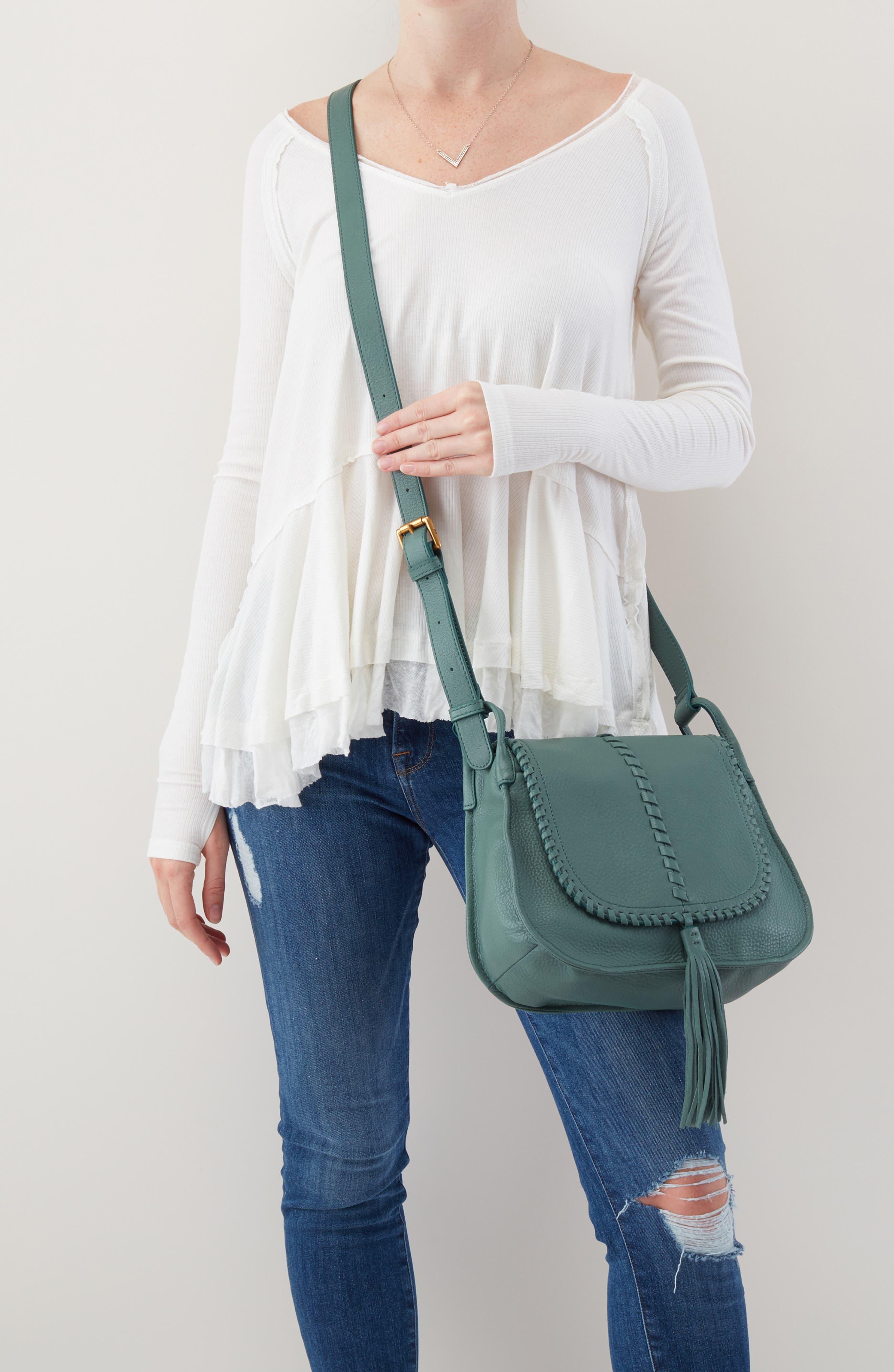 Brio Leather Crossbody Bag,                             Alternate thumbnail 2, color,                             MEADOW