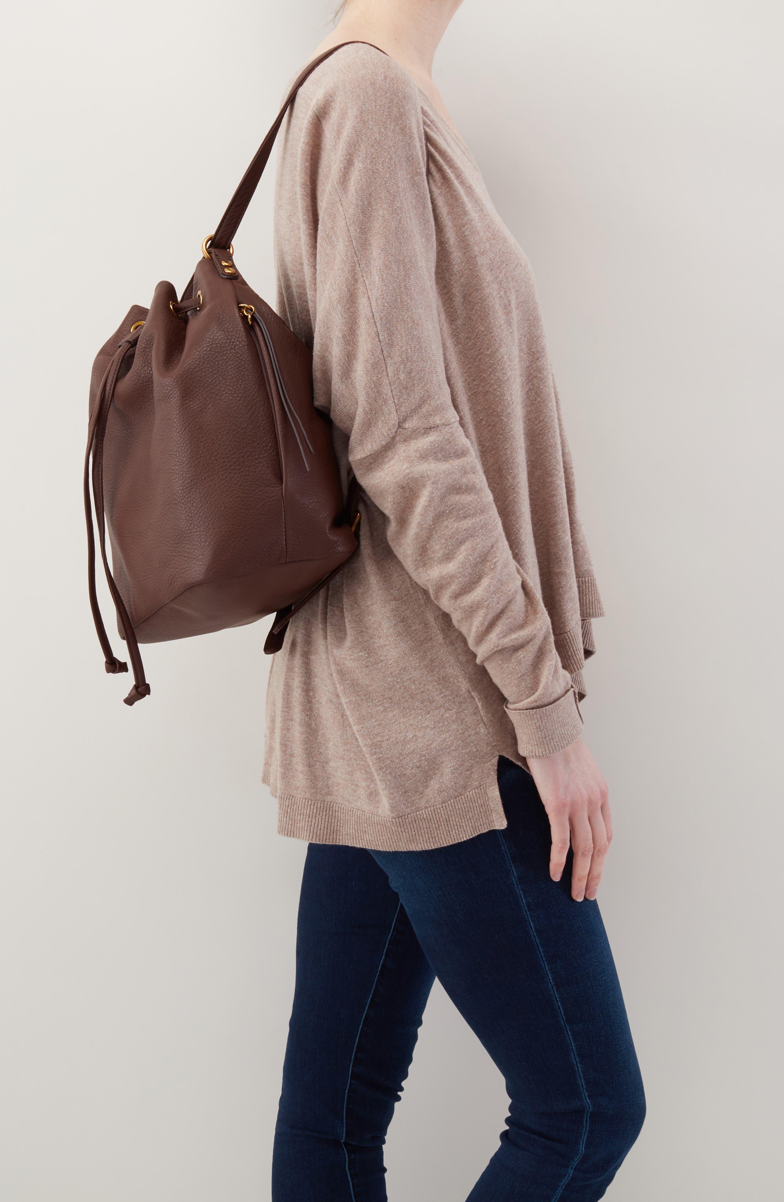 Brandish Convertible Bucket Bag,                             Alternate thumbnail 2, color,                             WALNUT