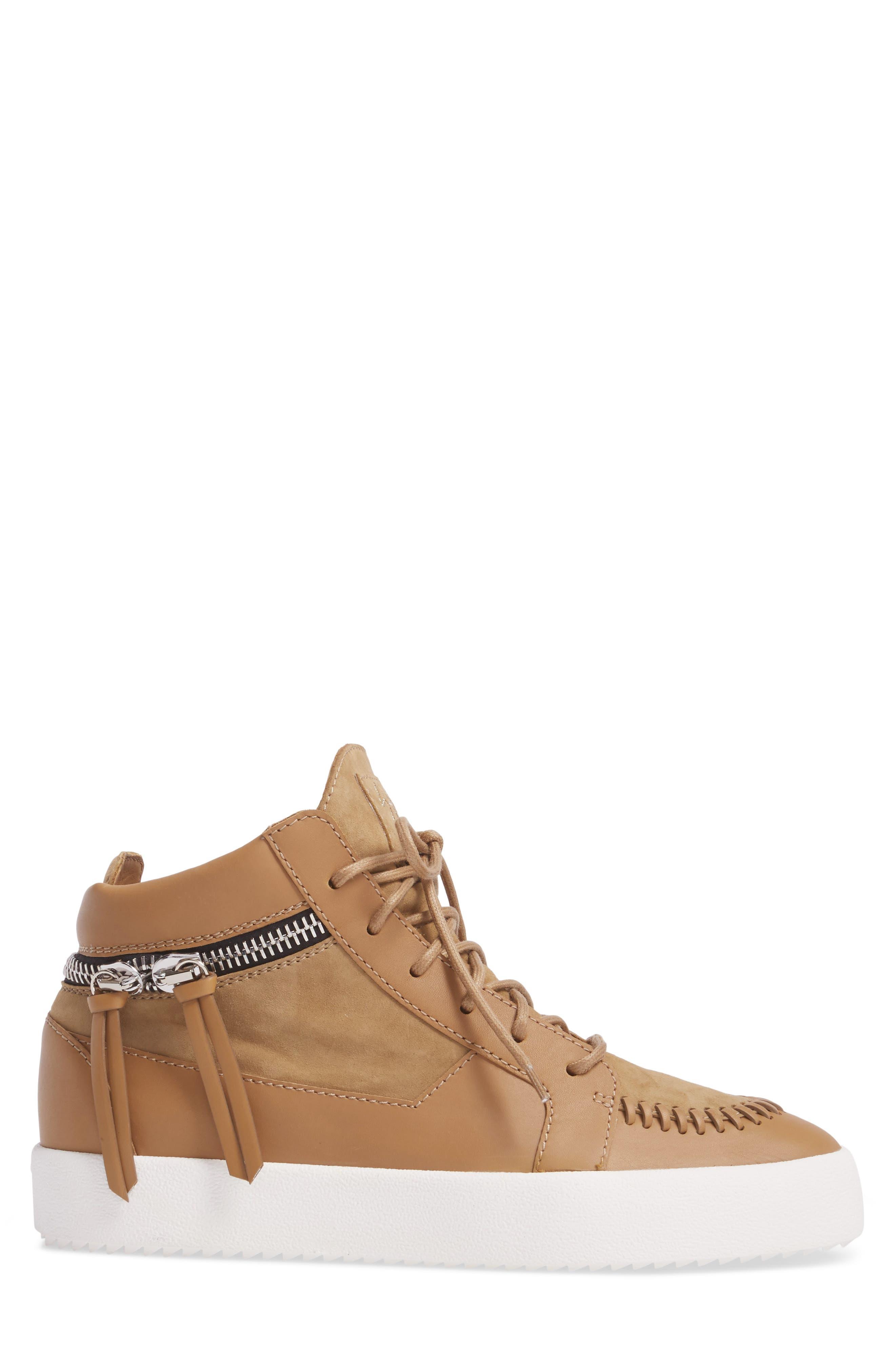 Mid-Top Sneaker,                             Alternate thumbnail 3, color,                             206