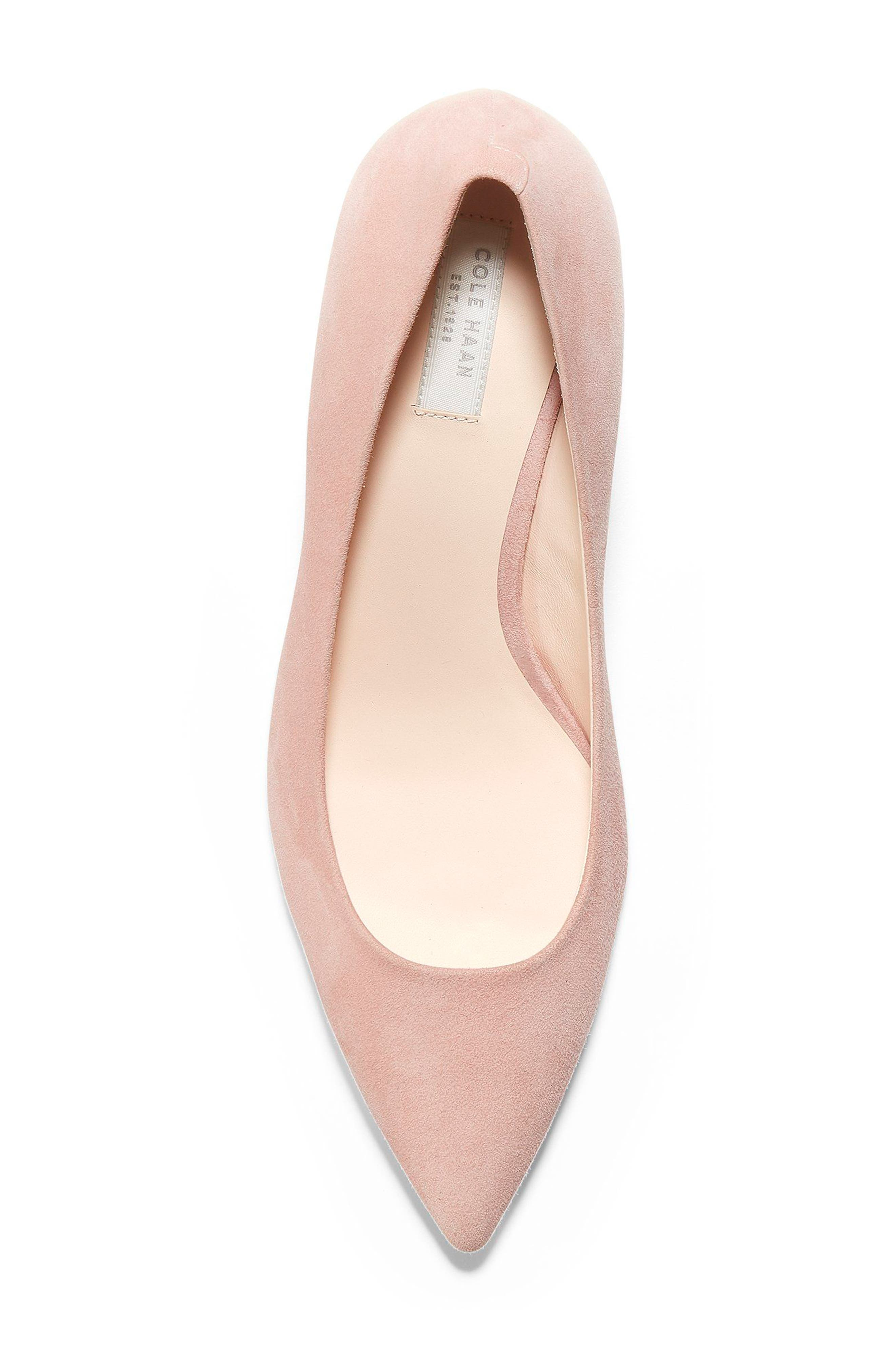 Vesta Pointy Toe Pump,                             Alternate thumbnail 5, color,                             SILVER PINK SUEDE