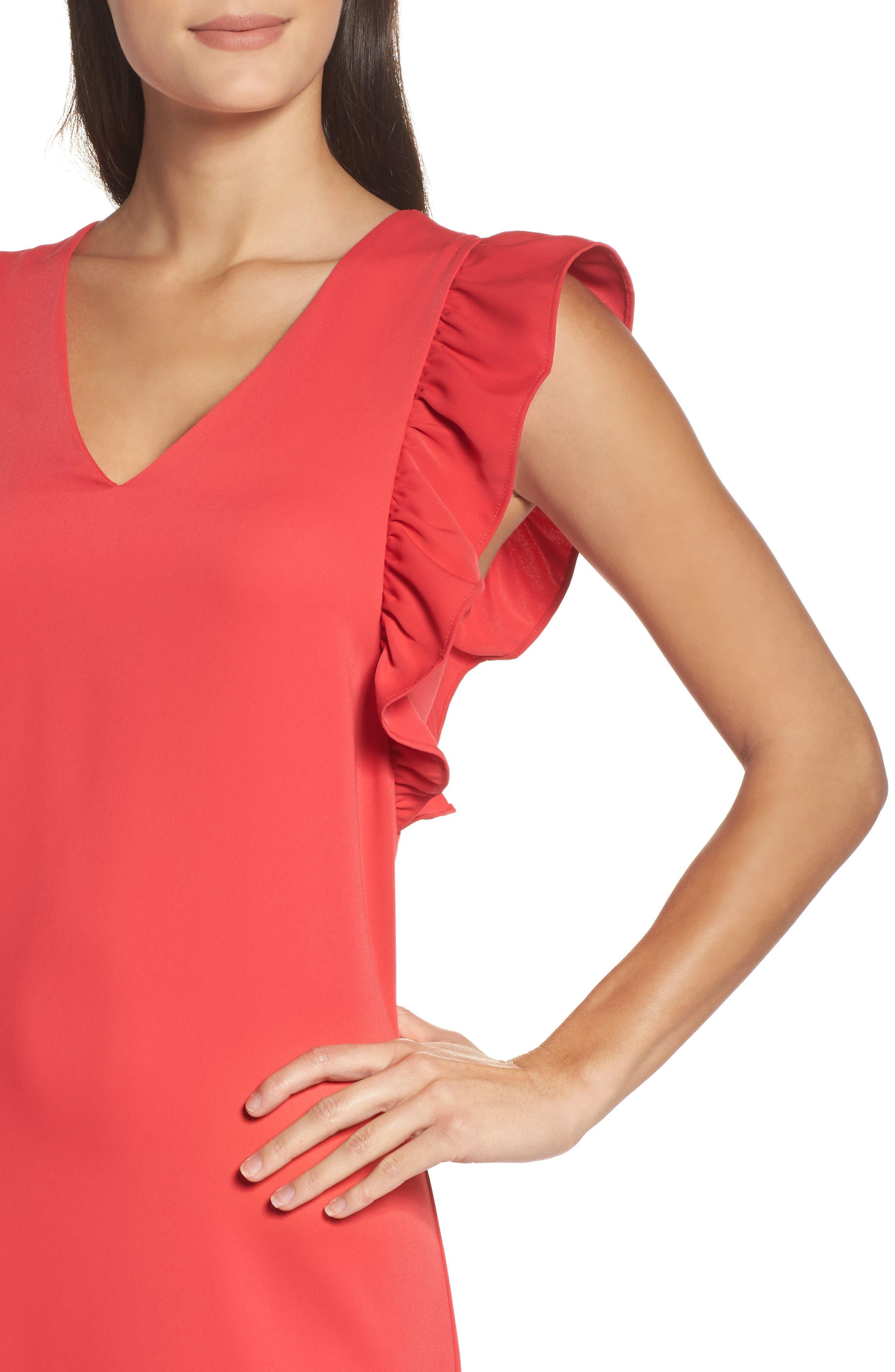 Ruffle Midi Dress,                             Alternate thumbnail 4, color,                             610