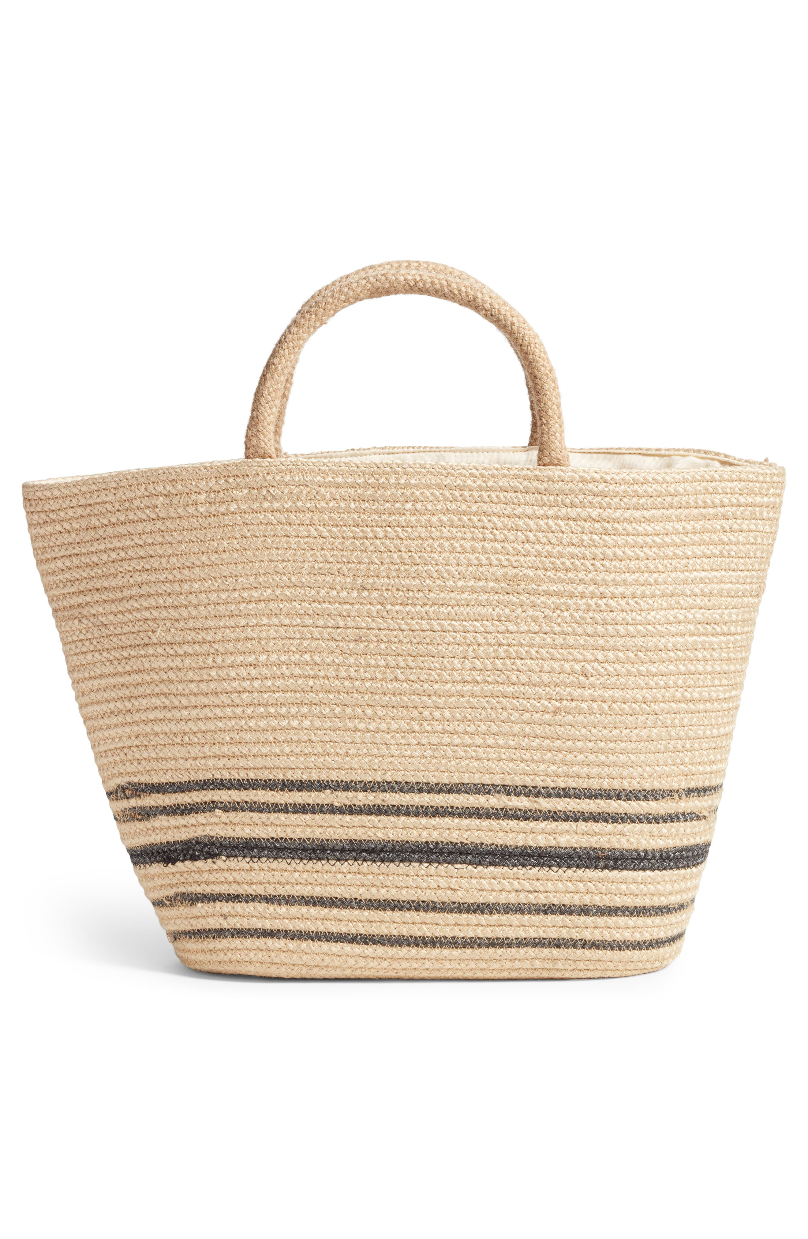 Forever Vacay Jute Bag,                             Alternate thumbnail 3, color,