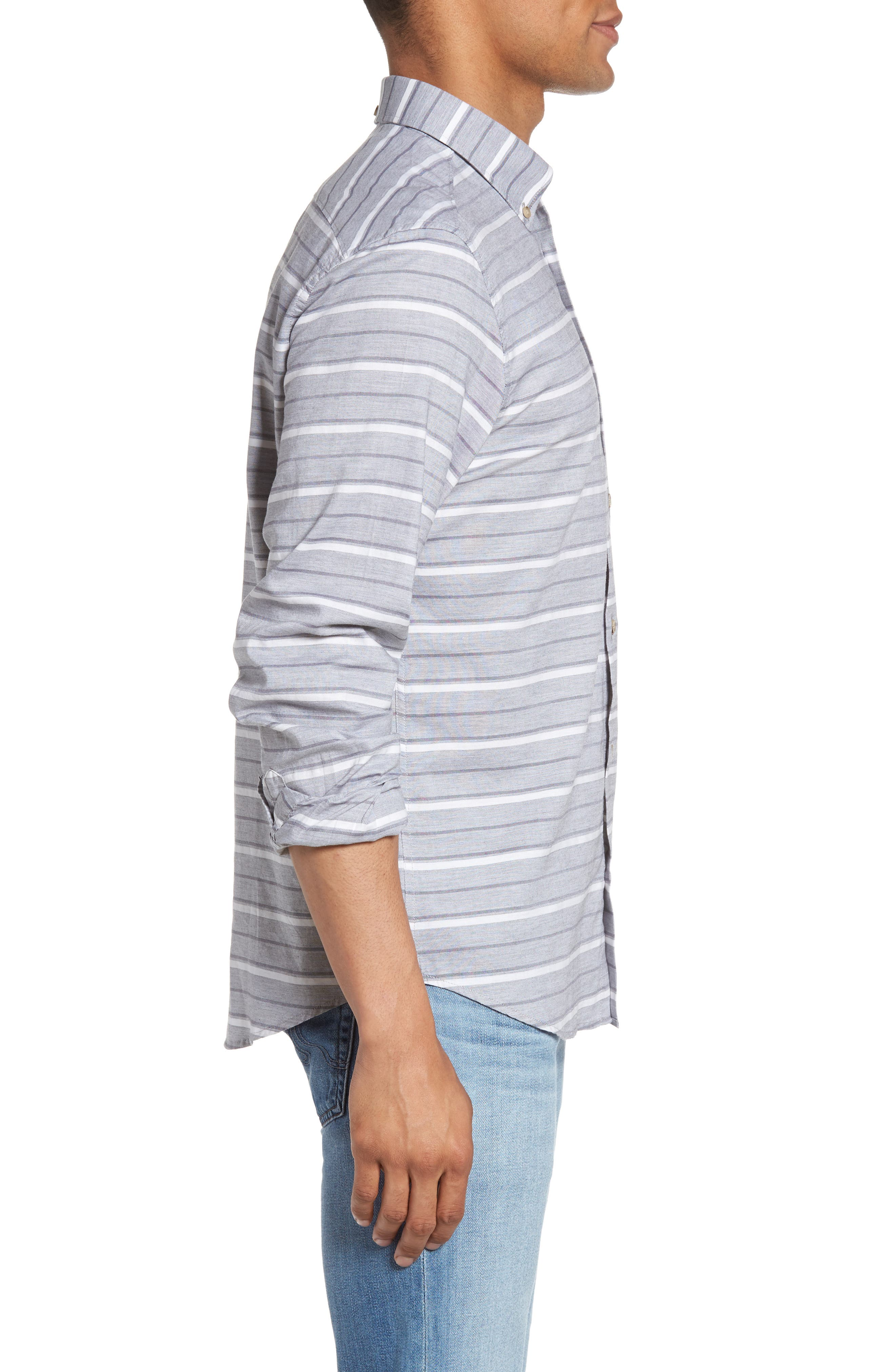 Tipping Horizontal Stripe Shirt,                             Alternate thumbnail 3, color,                             020
