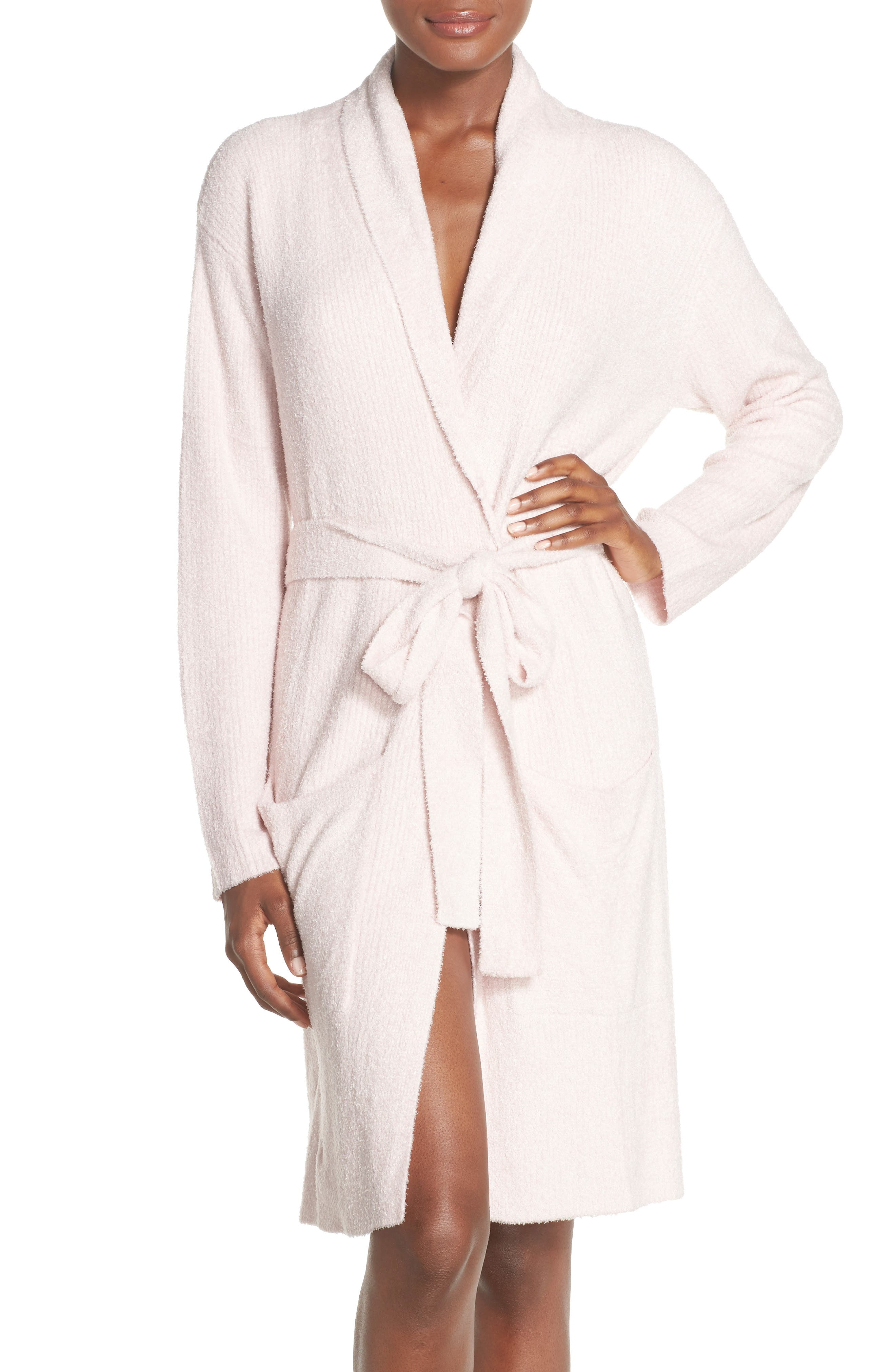 Barefoot Dreams CozyChic Lite<sup>®</sup> Short Robe,                         Main,                         color, 682
