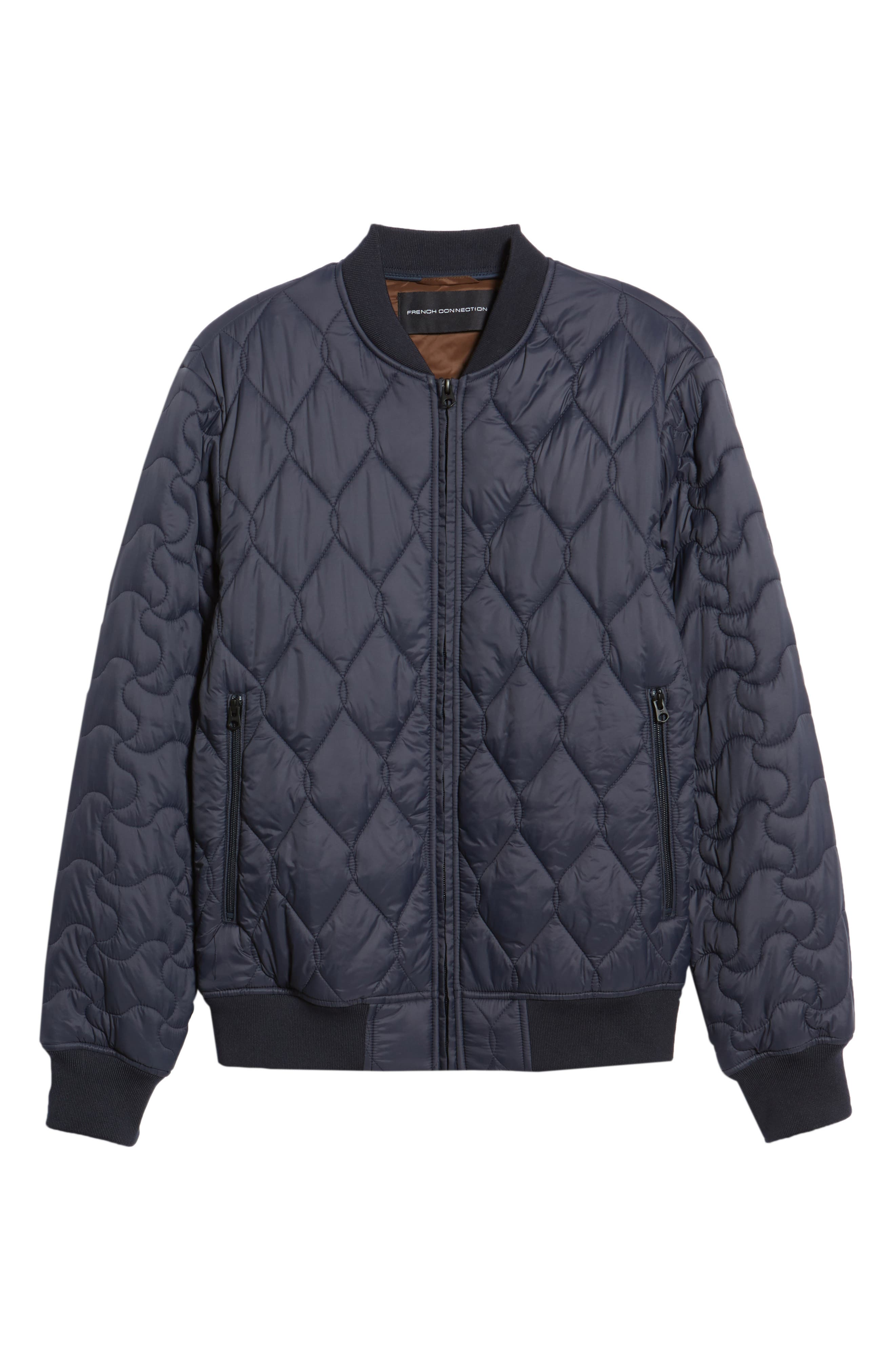 Quilted Jacket,                             Alternate thumbnail 5, color,                             UTILITY BLUE MIDNIGHT MOSS