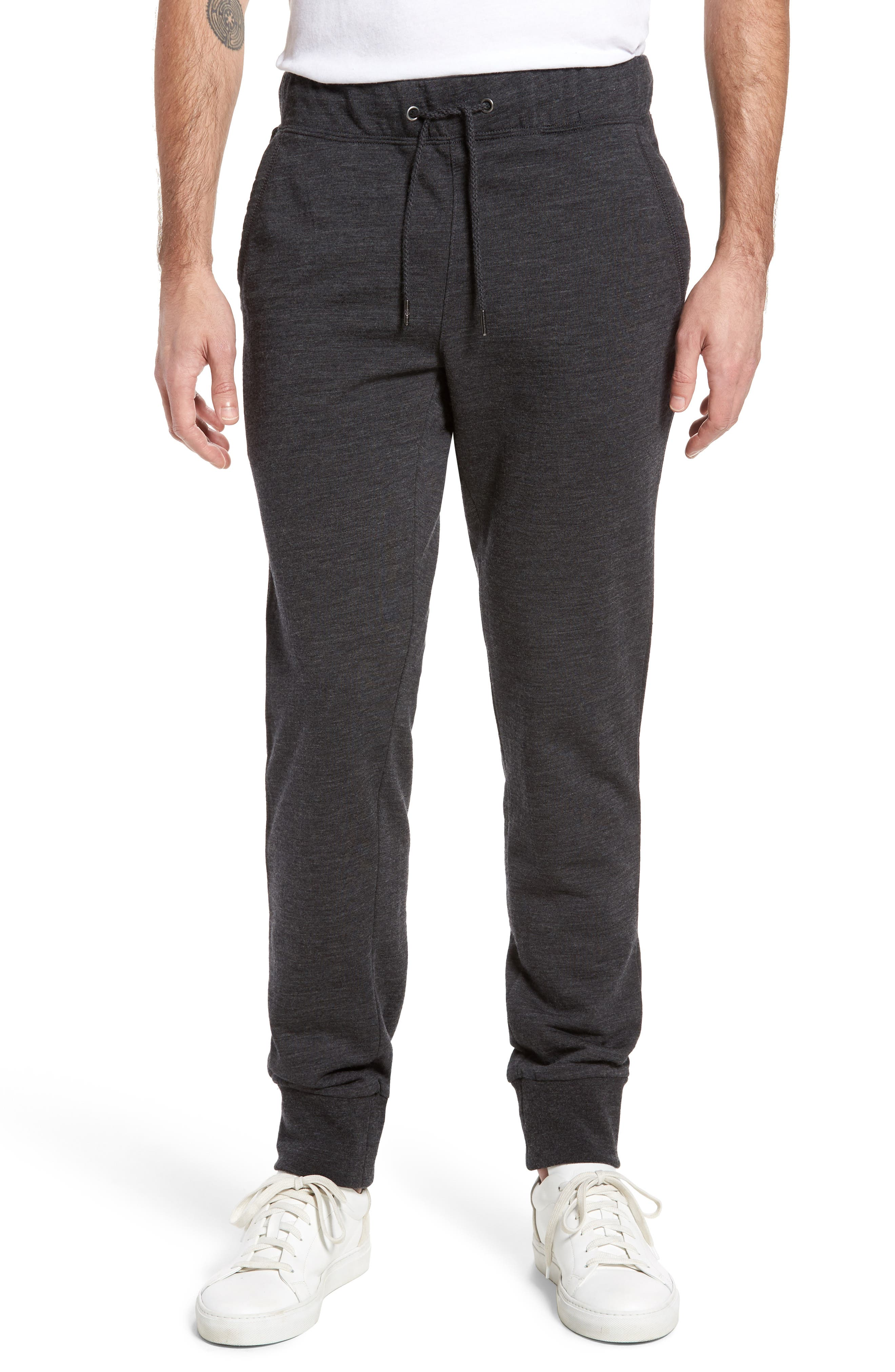Merino Wool Fleece Jogger Pants,                             Main thumbnail 1, color,