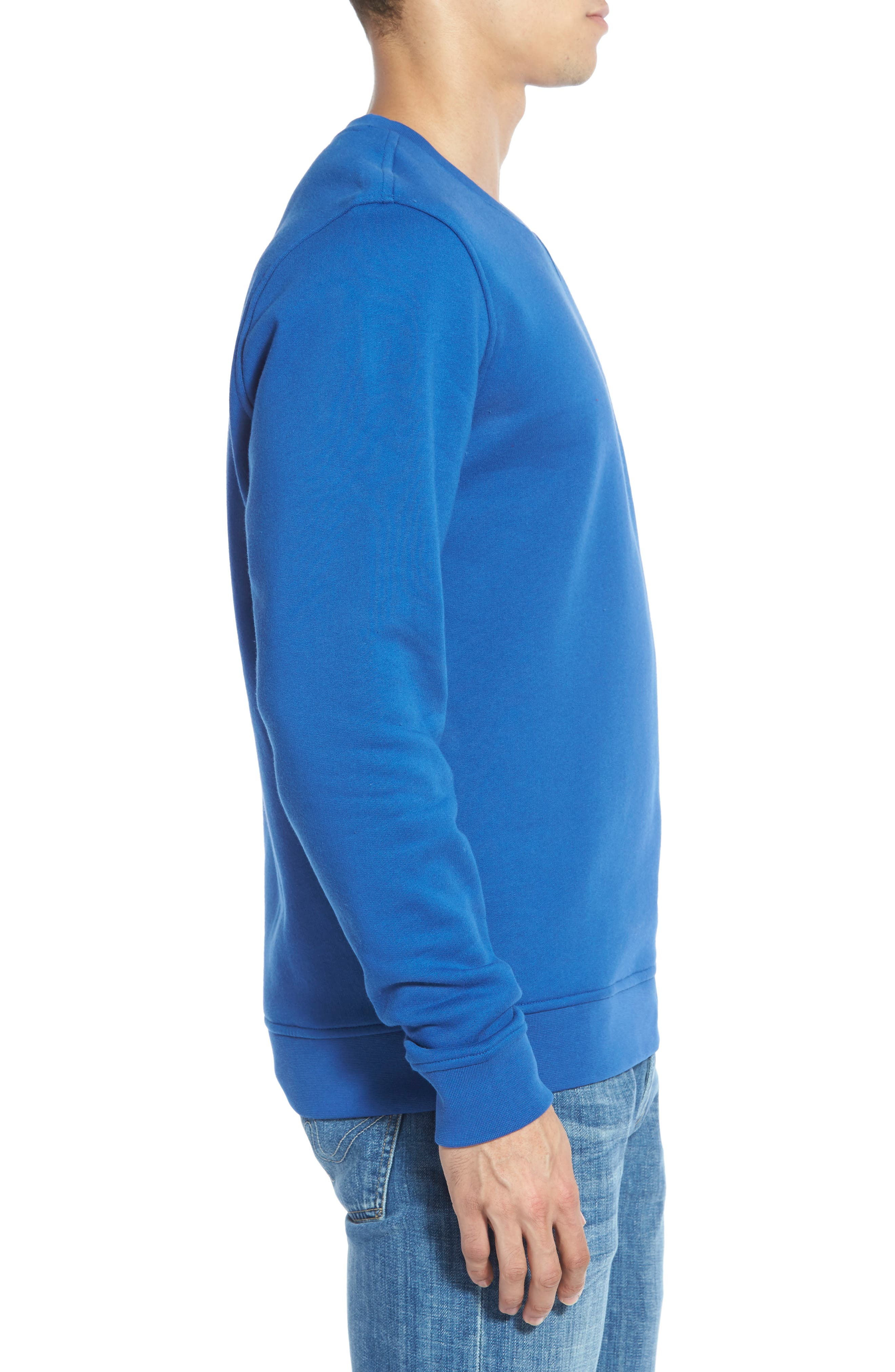 'Sport' Crewneck Sweatshirt,                             Alternate thumbnail 3, color,                             NAVY