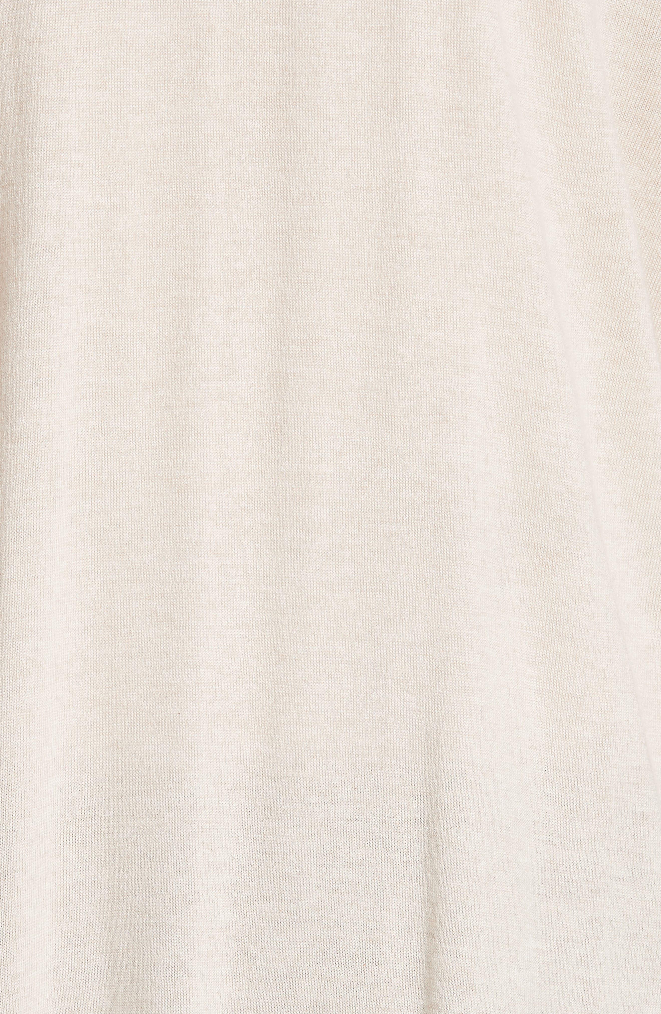 Long Silk Blend Cardigan,                             Alternate thumbnail 5, color,                             BEIGE
