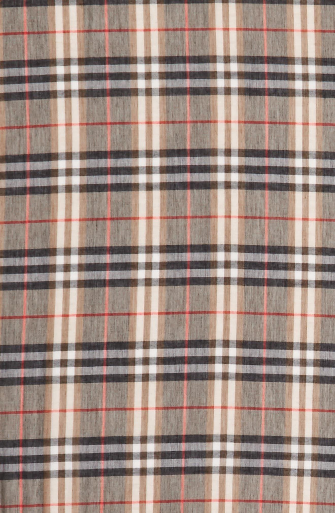 Castleford Check Scarf,                             Alternate thumbnail 3, color,                             200