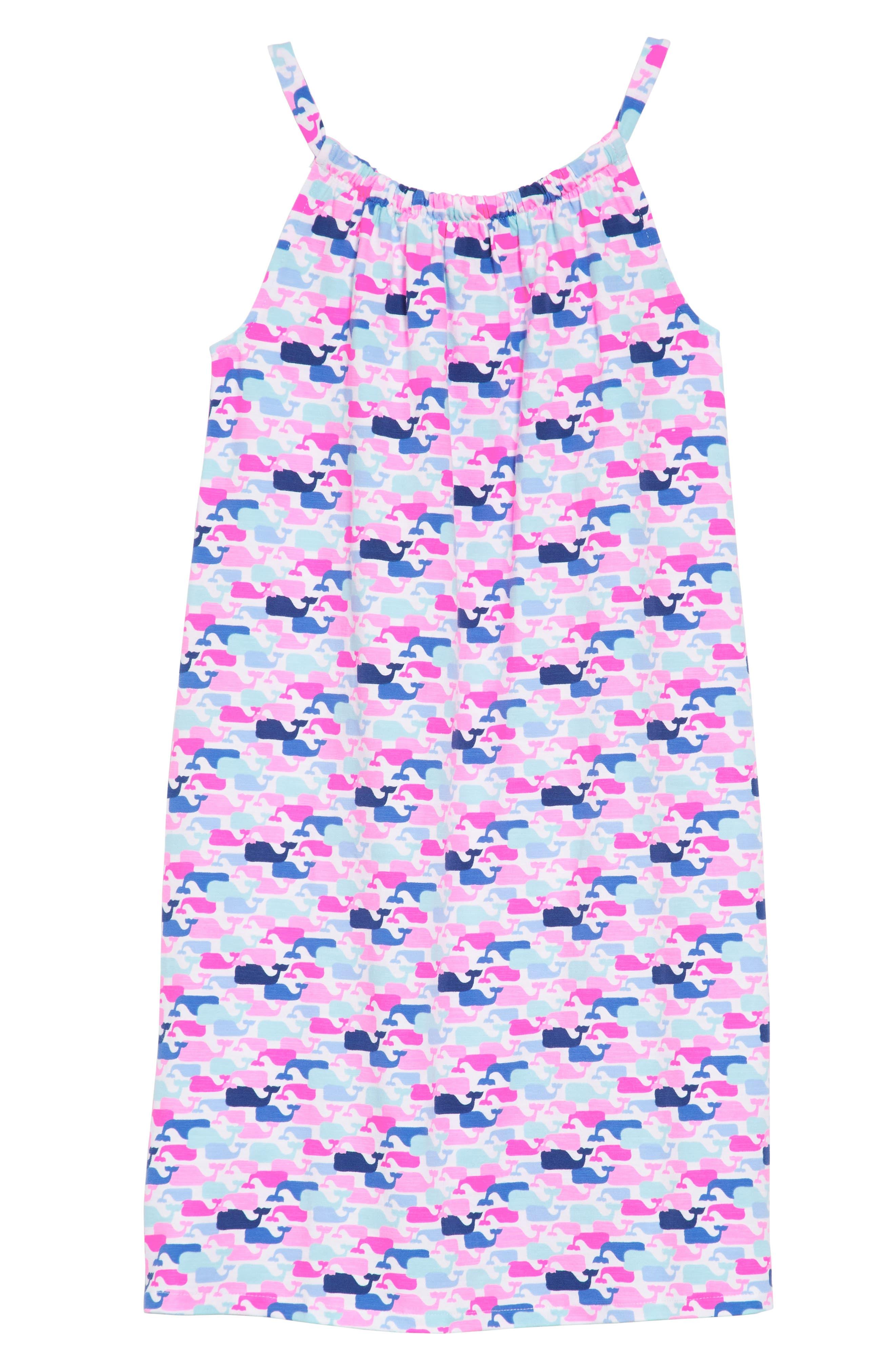 Whale Print Dress,                             Alternate thumbnail 2, color,                             100