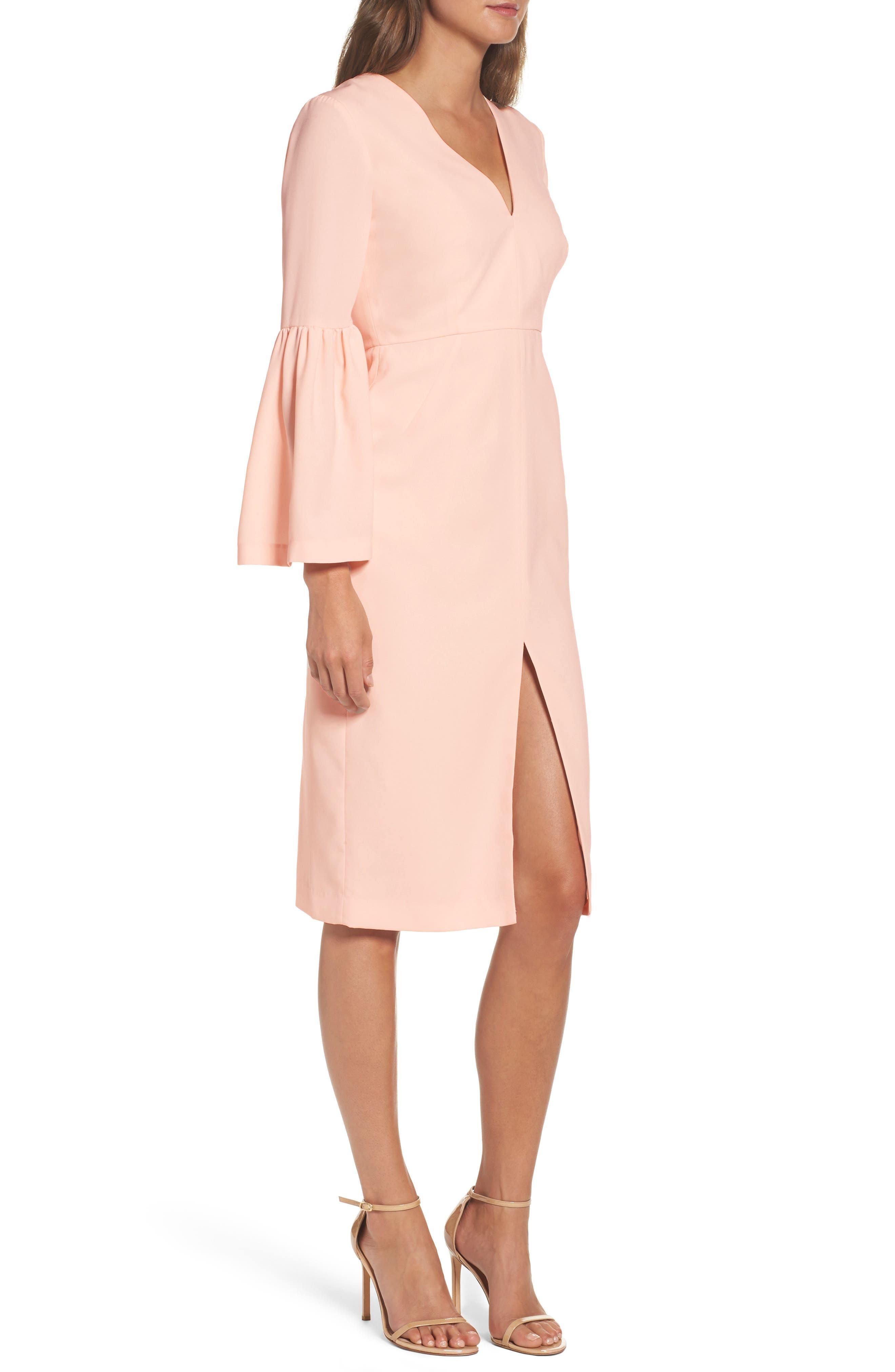 Bell Sleeve Dress,                             Alternate thumbnail 3, color,                             400