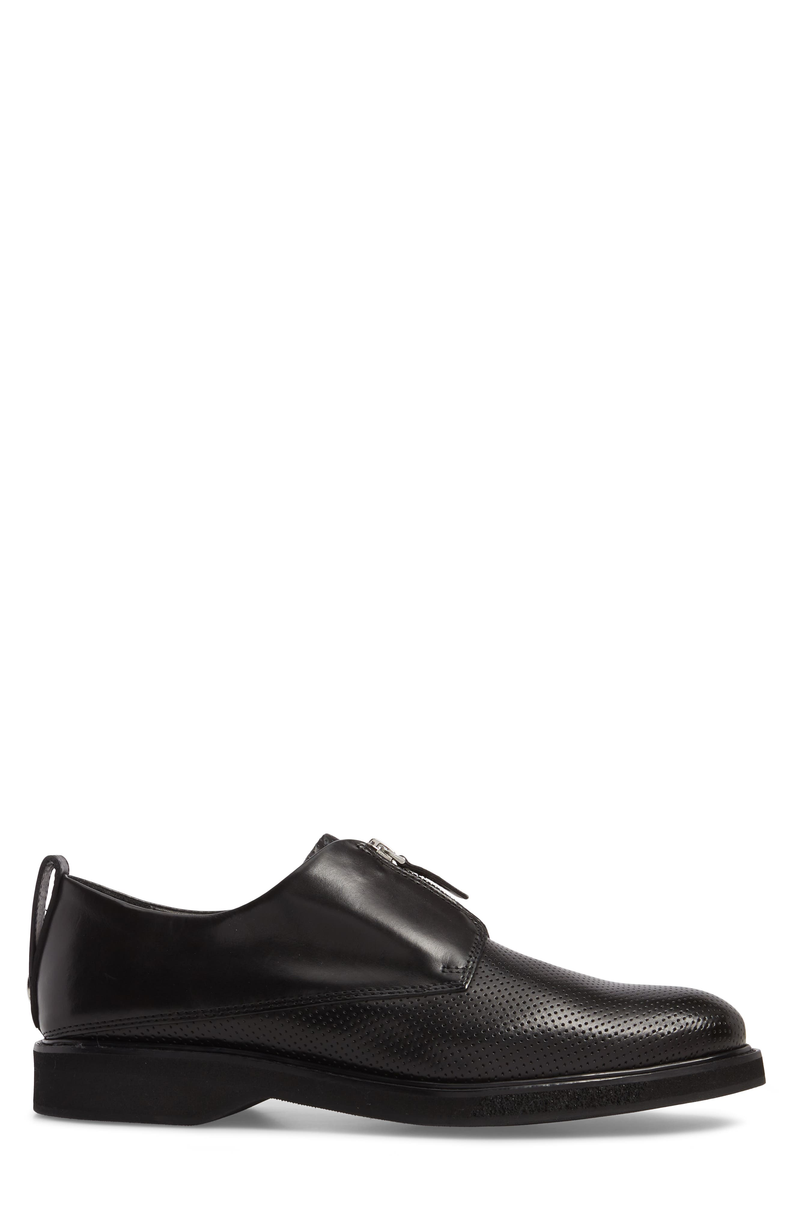 Zipped Derby Shoe,                             Alternate thumbnail 3, color,                             001