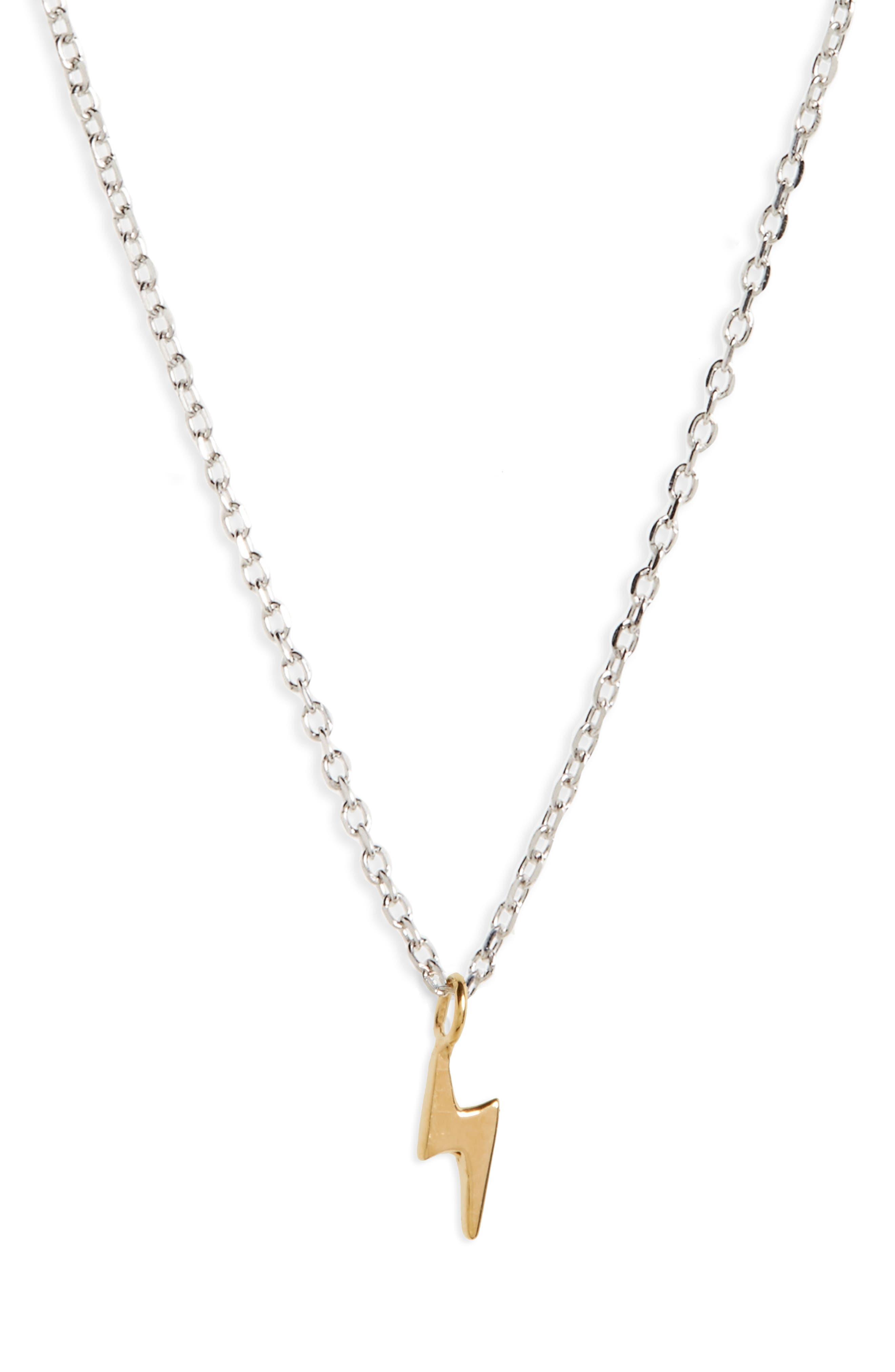 Vermeil Pendant Necklace, Main, color, LIGHTENING/ GOLD