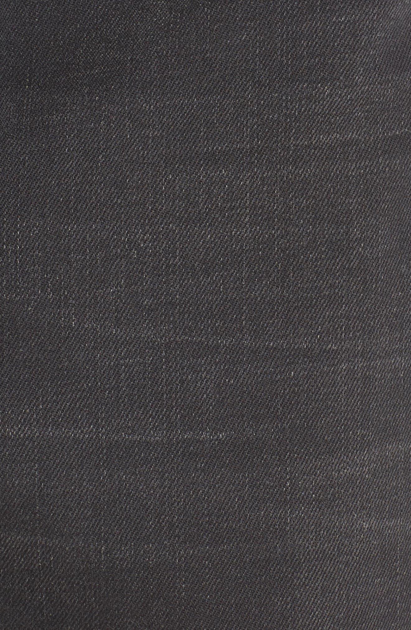 Destroyed Denim Miniskirt,                             Alternate thumbnail 5, color,                             001