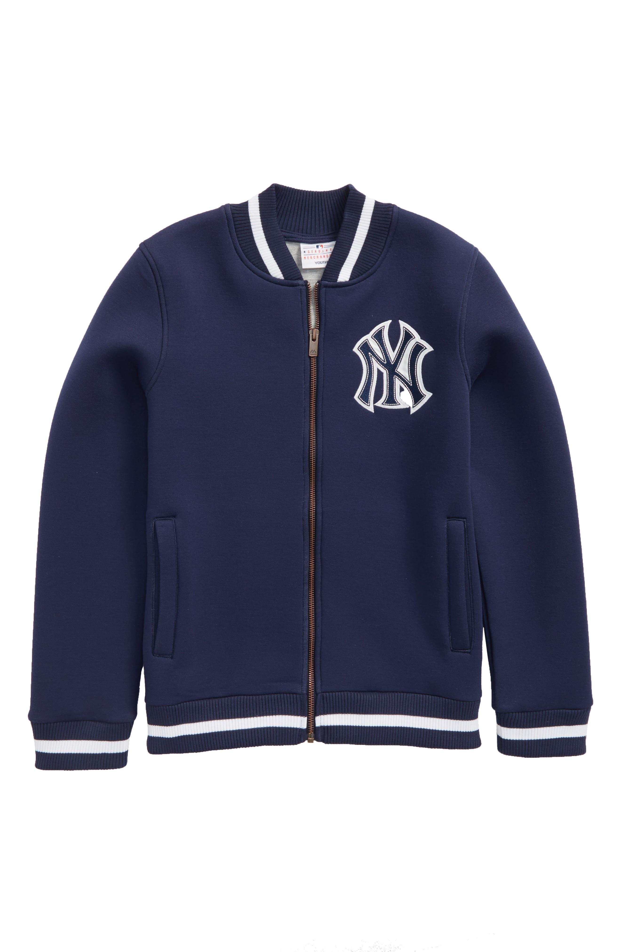 Classical New York Yankees Knit Varsity Jacket,                             Main thumbnail 1, color,