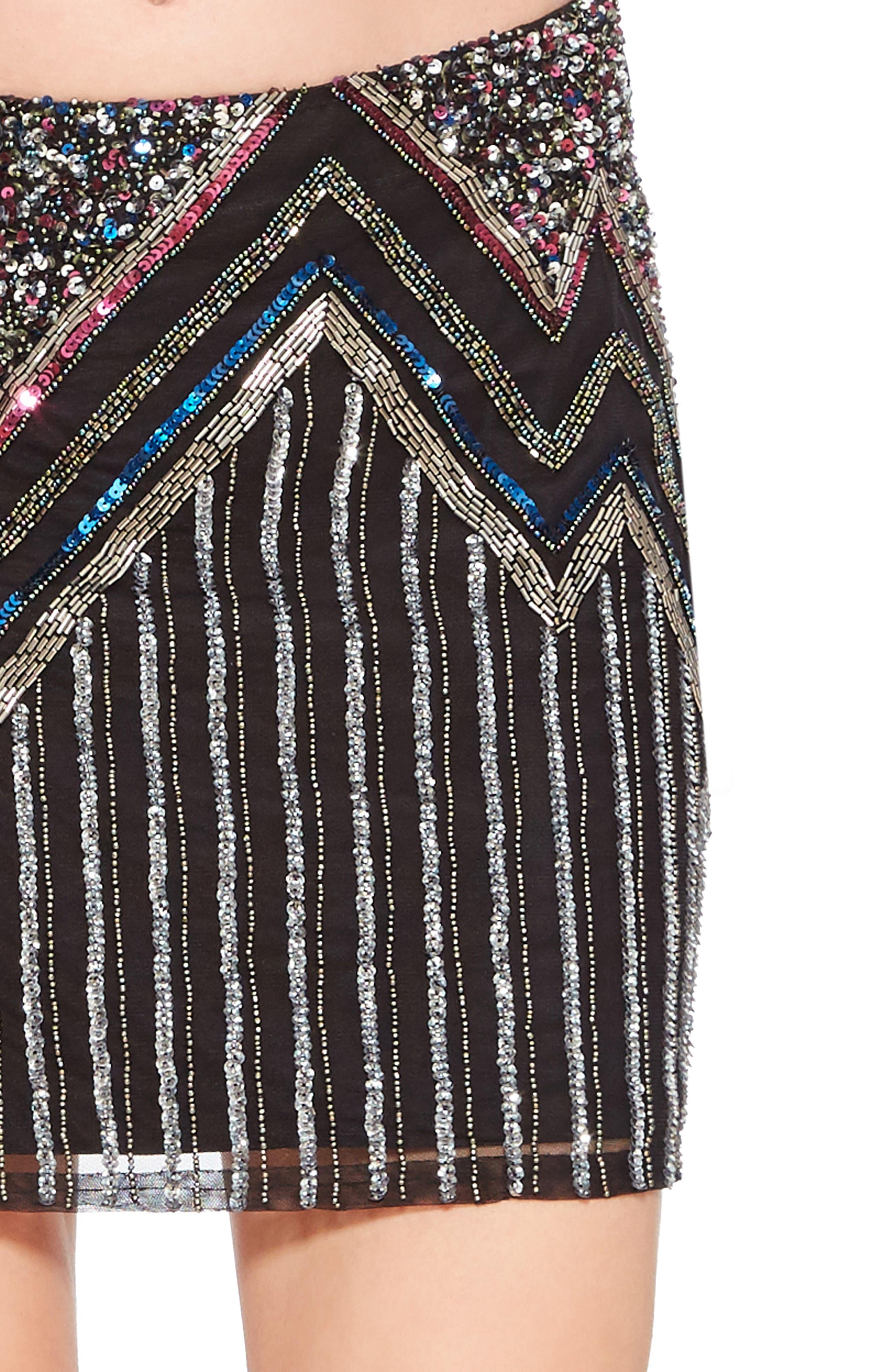 PARKER,                             Corsica Sequin Miniskirt,                             Alternate thumbnail 4, color,                             015