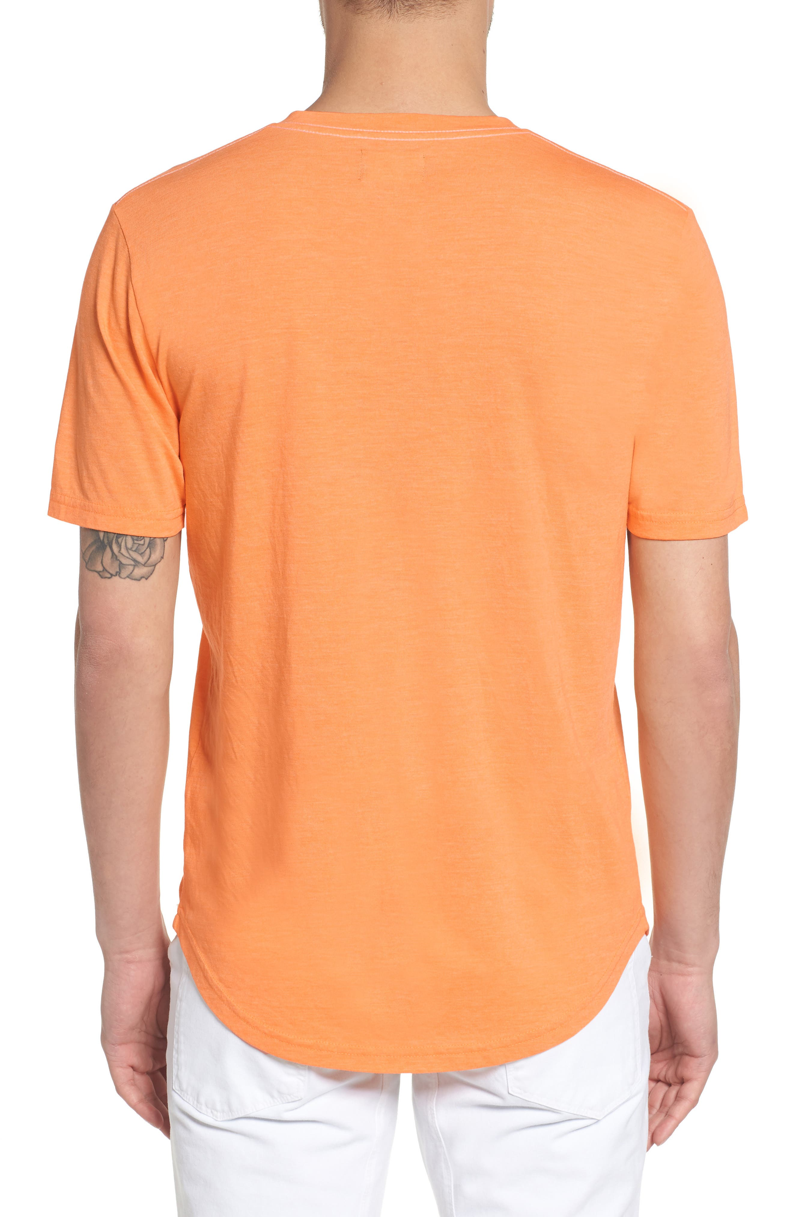 Scallop Triblend V-Neck T-Shirt,                             Alternate thumbnail 38, color,