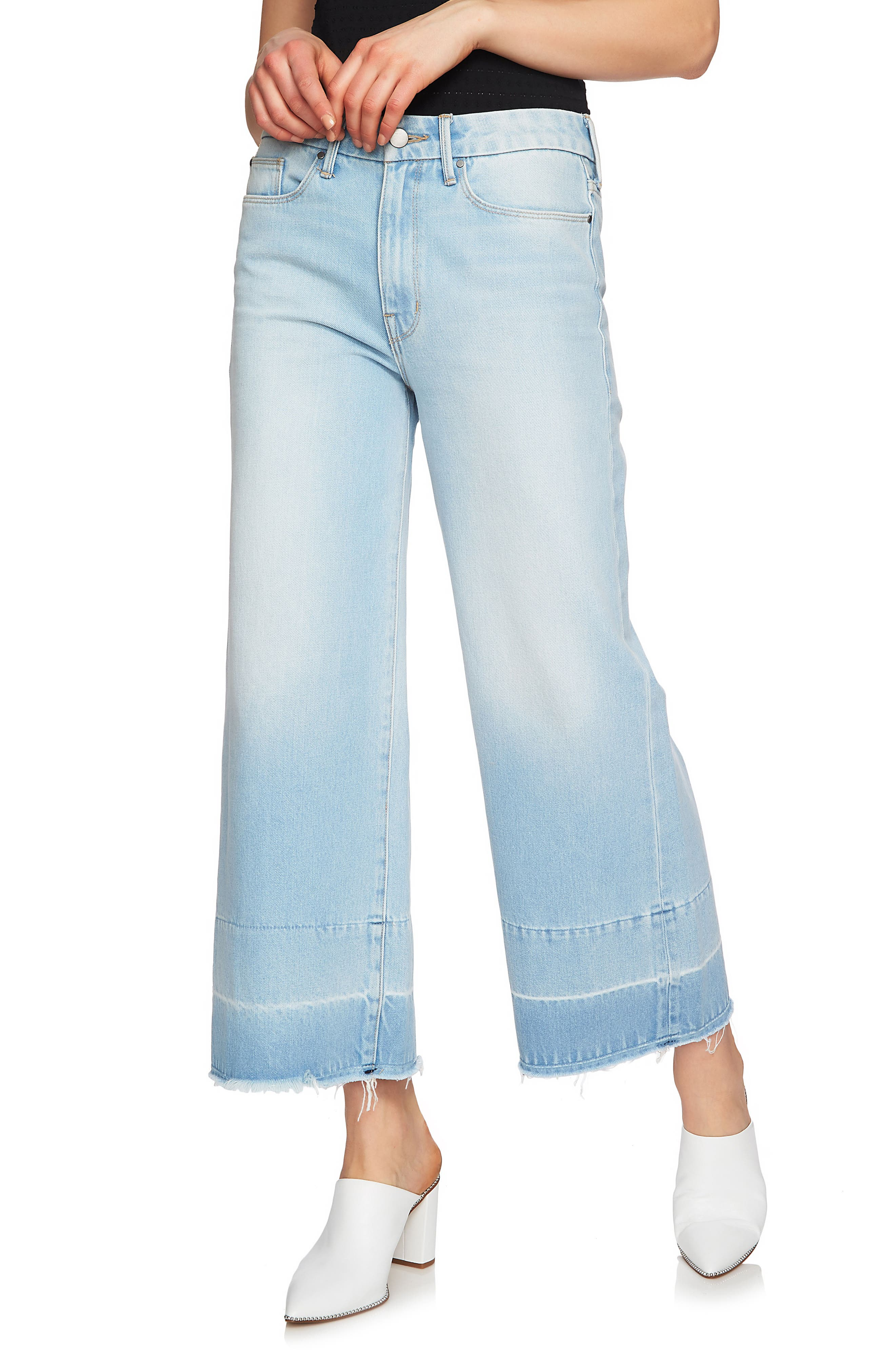 Released Hem Wide Leg Jeans,                         Main,                         color, 434