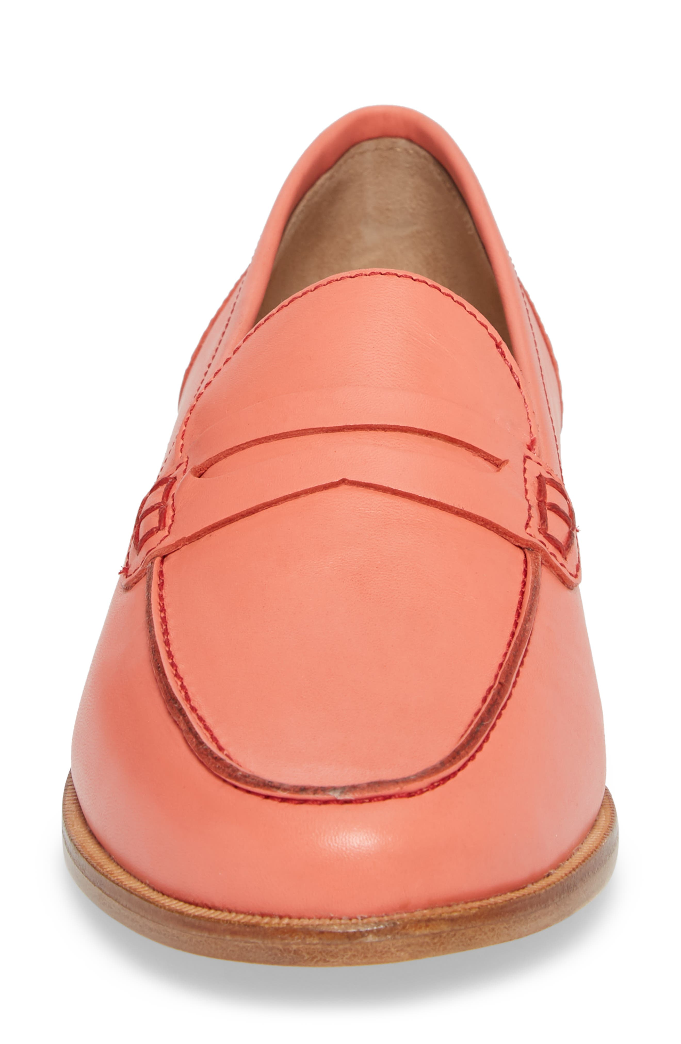 Ryan Penny Loafer,                             Alternate thumbnail 4, color,                             RUST LEATHER
