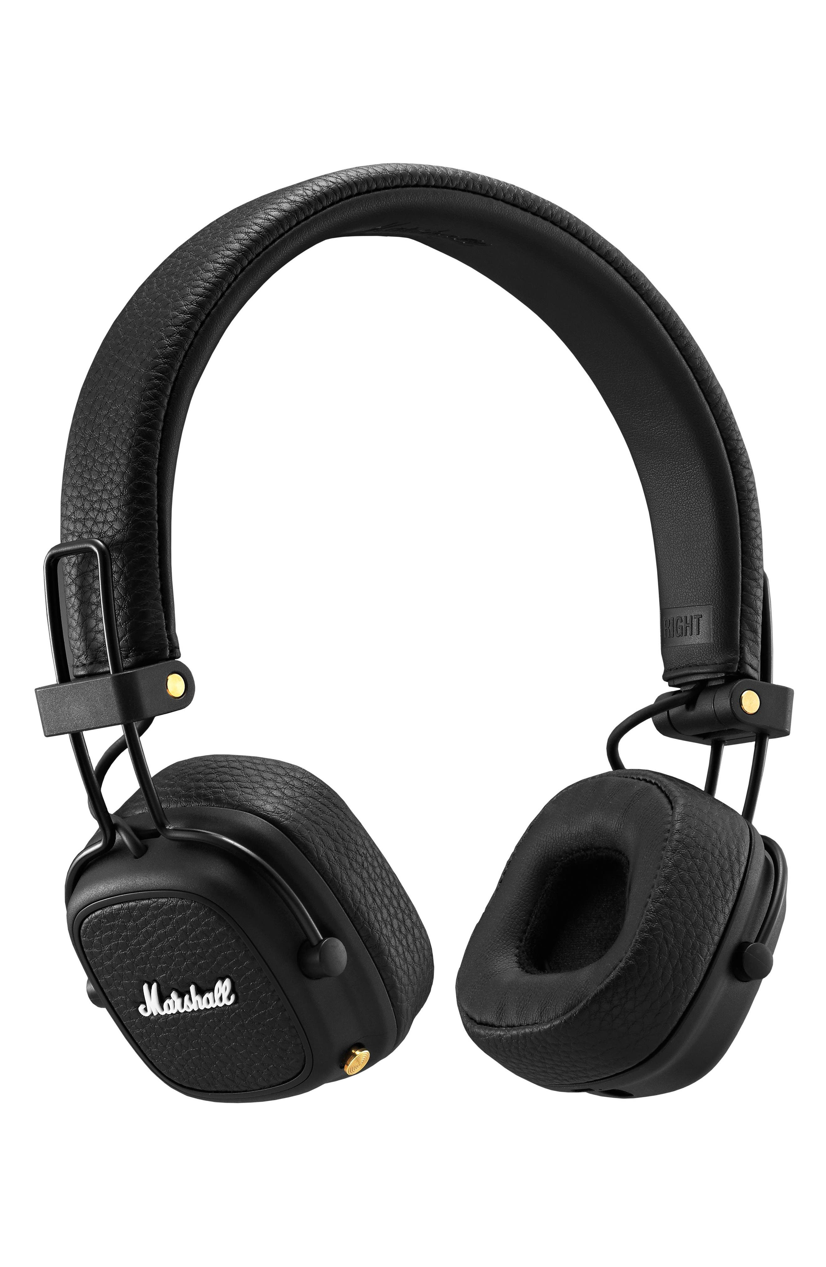 Major III Bluetooth<sup>®</sup> Headphones,                             Main thumbnail 1, color,                             BLACK