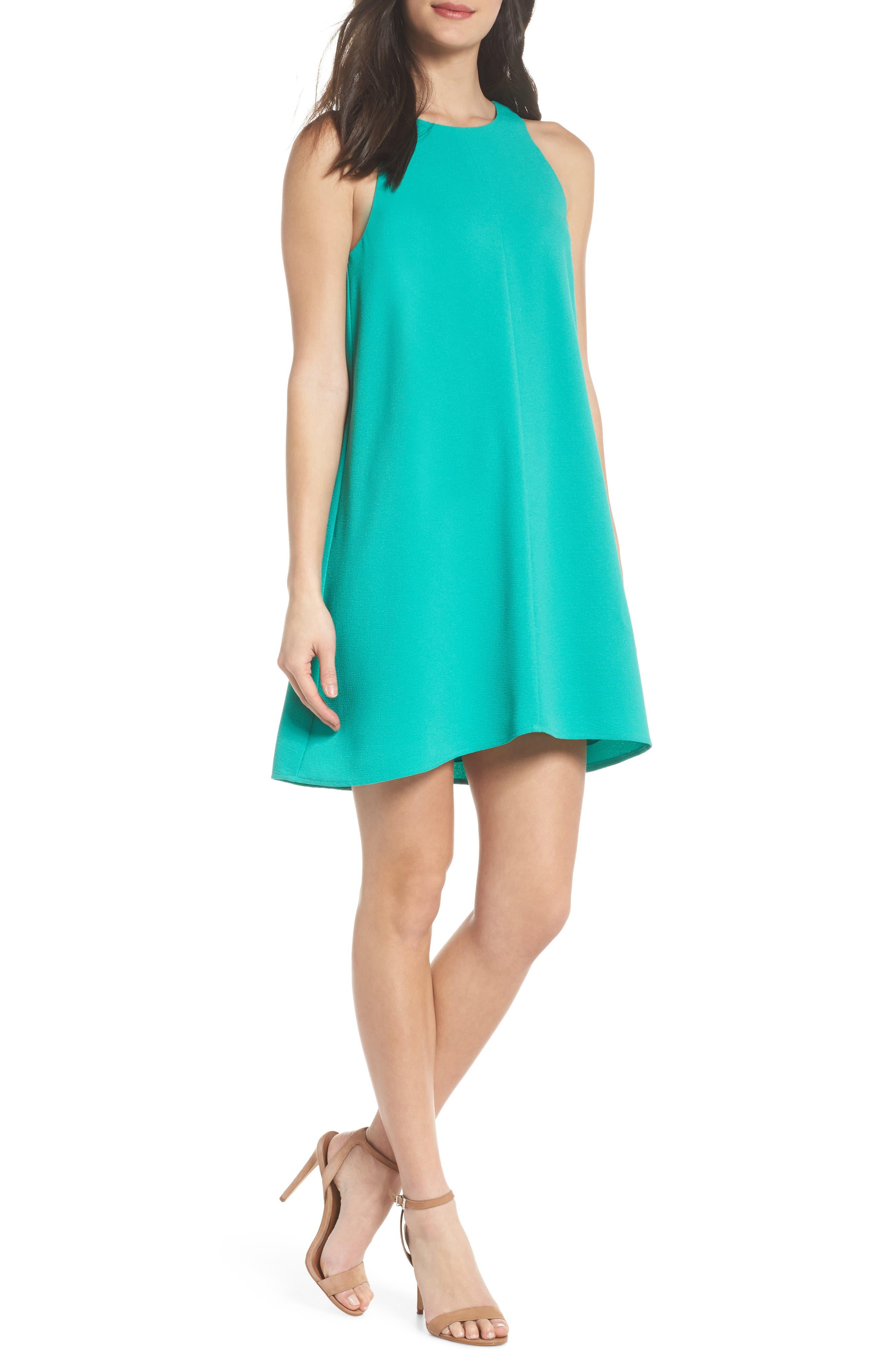 Bow Back Sleeveless Trapeze Dress,                         Main,                         color, 320