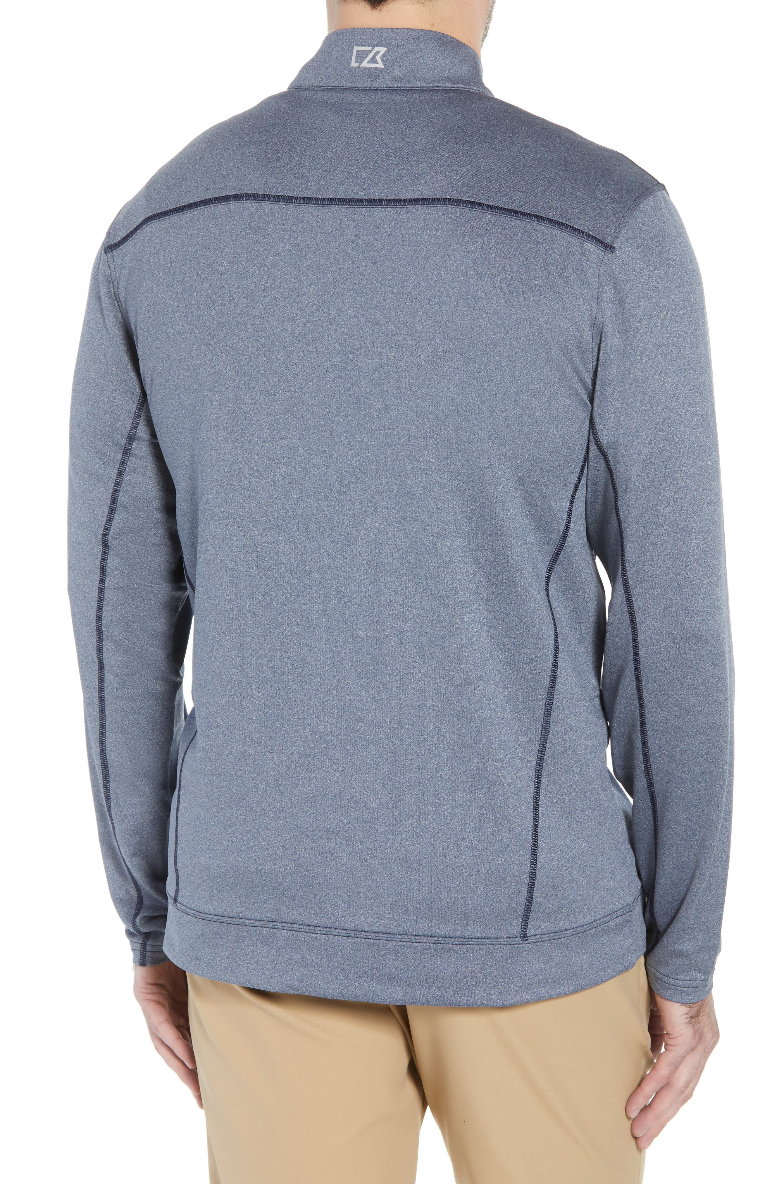 Endurance Los Angeles Chargers Regular Fit Pullover,                             Alternate thumbnail 2, color,                             LIBERTY NAVY HEATHER