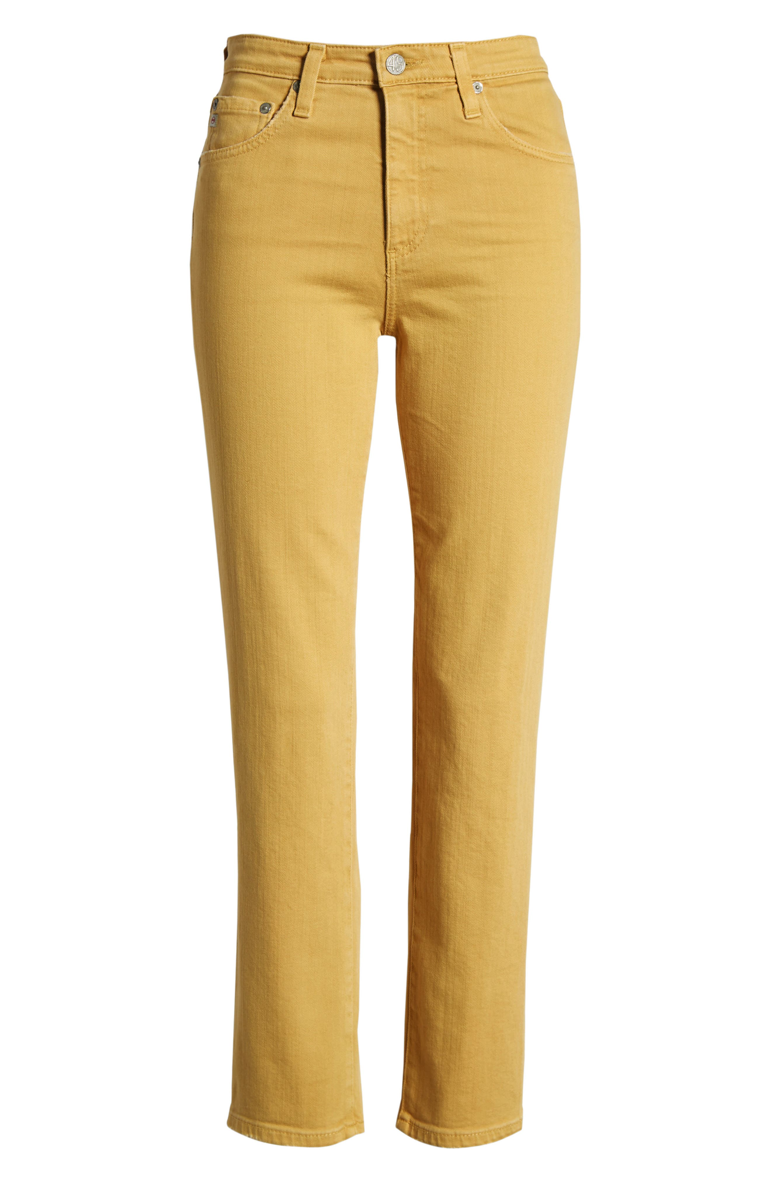 The Isabelle High Waist Crop Straight Leg Jeans,                             Alternate thumbnail 19, color,