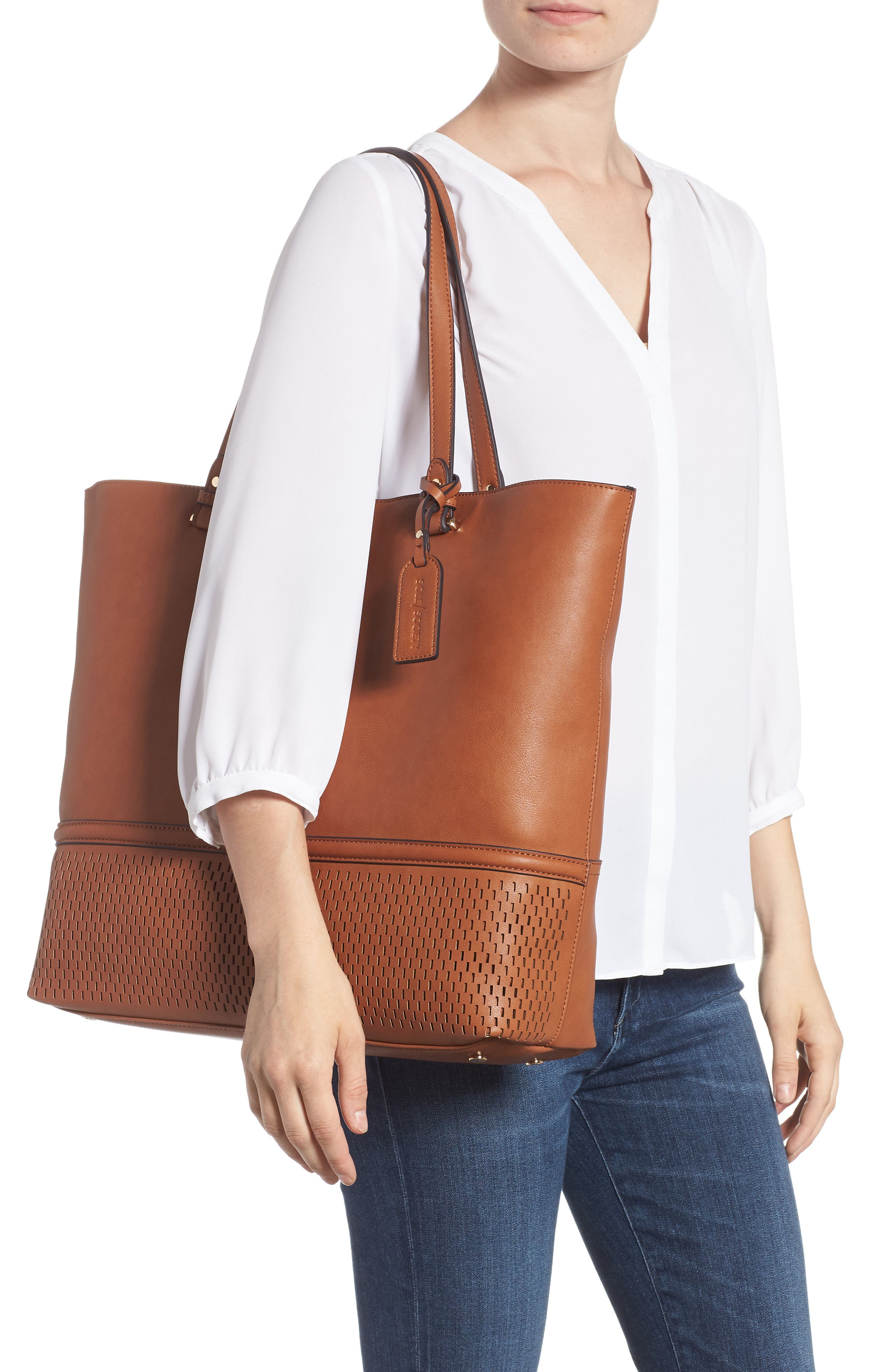 Oversize Faux Leather Tote,                             Alternate thumbnail 2, color,                             230
