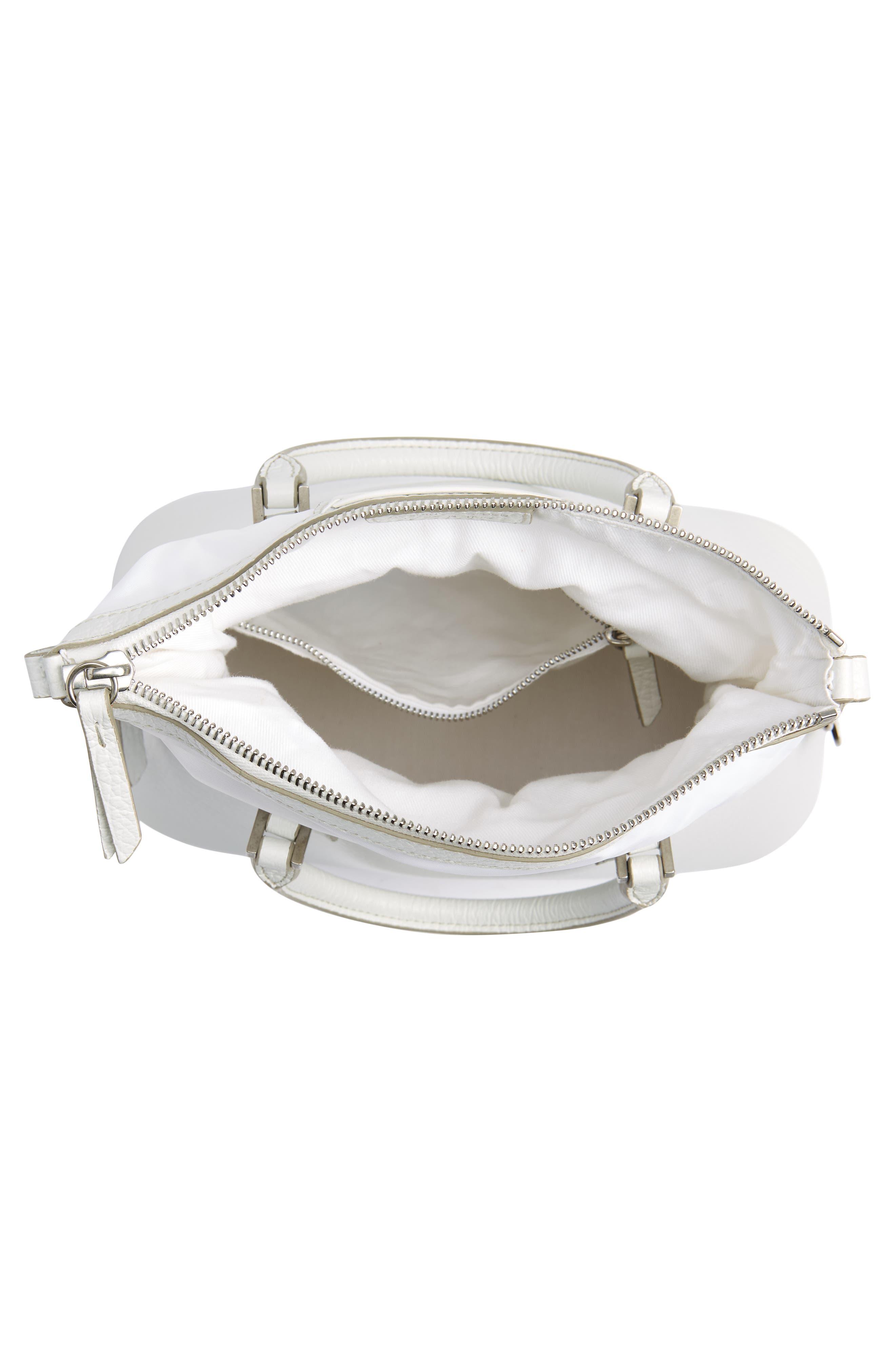 Small 5AC Calfskin Leather Handbag,                             Alternate thumbnail 5, color,                             WHITE