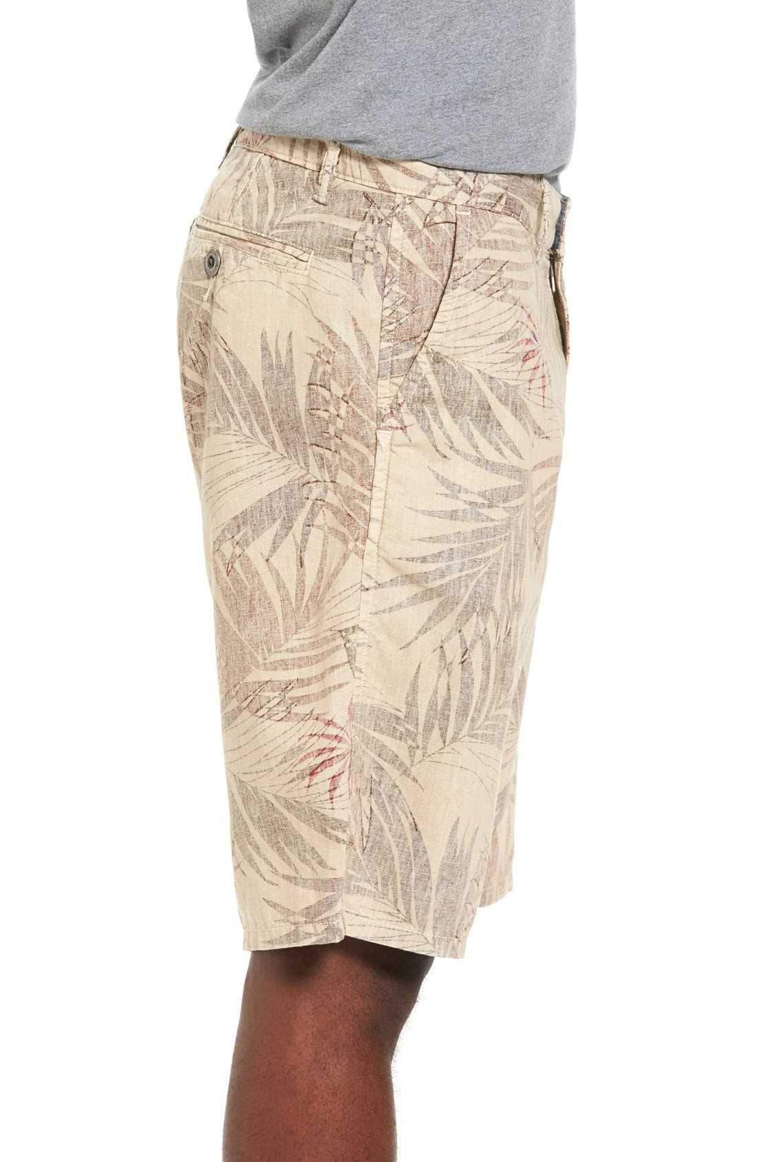 Havana Print Linen Shorts,                             Alternate thumbnail 2, color,                             280