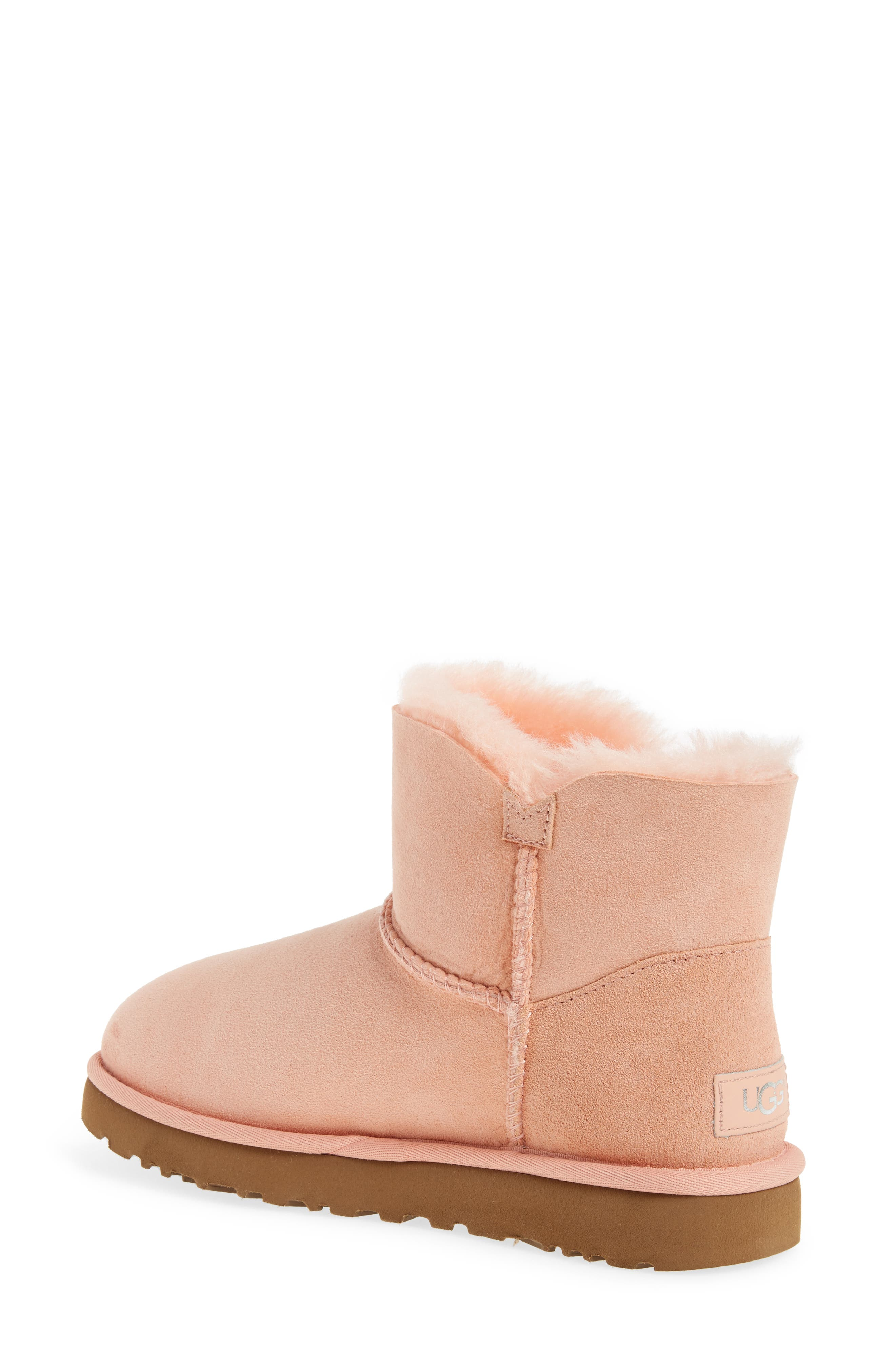 Bailey Petal Genuine Shearling Lined Mini Boot,                             Alternate thumbnail 6, color,