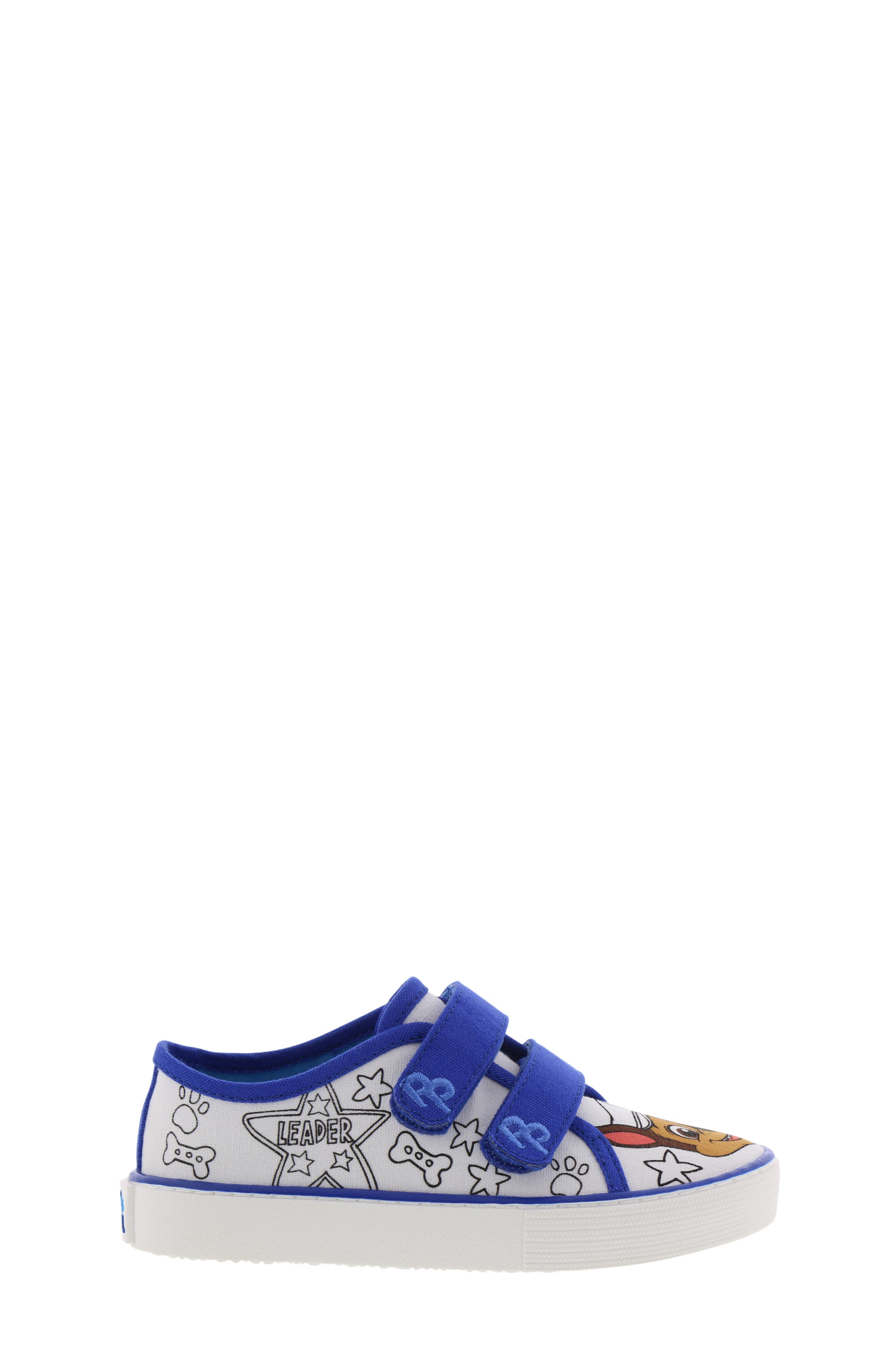 Chase Color DIY Sneaker,                             Alternate thumbnail 3, color,                             WHITE CHASE BLUE