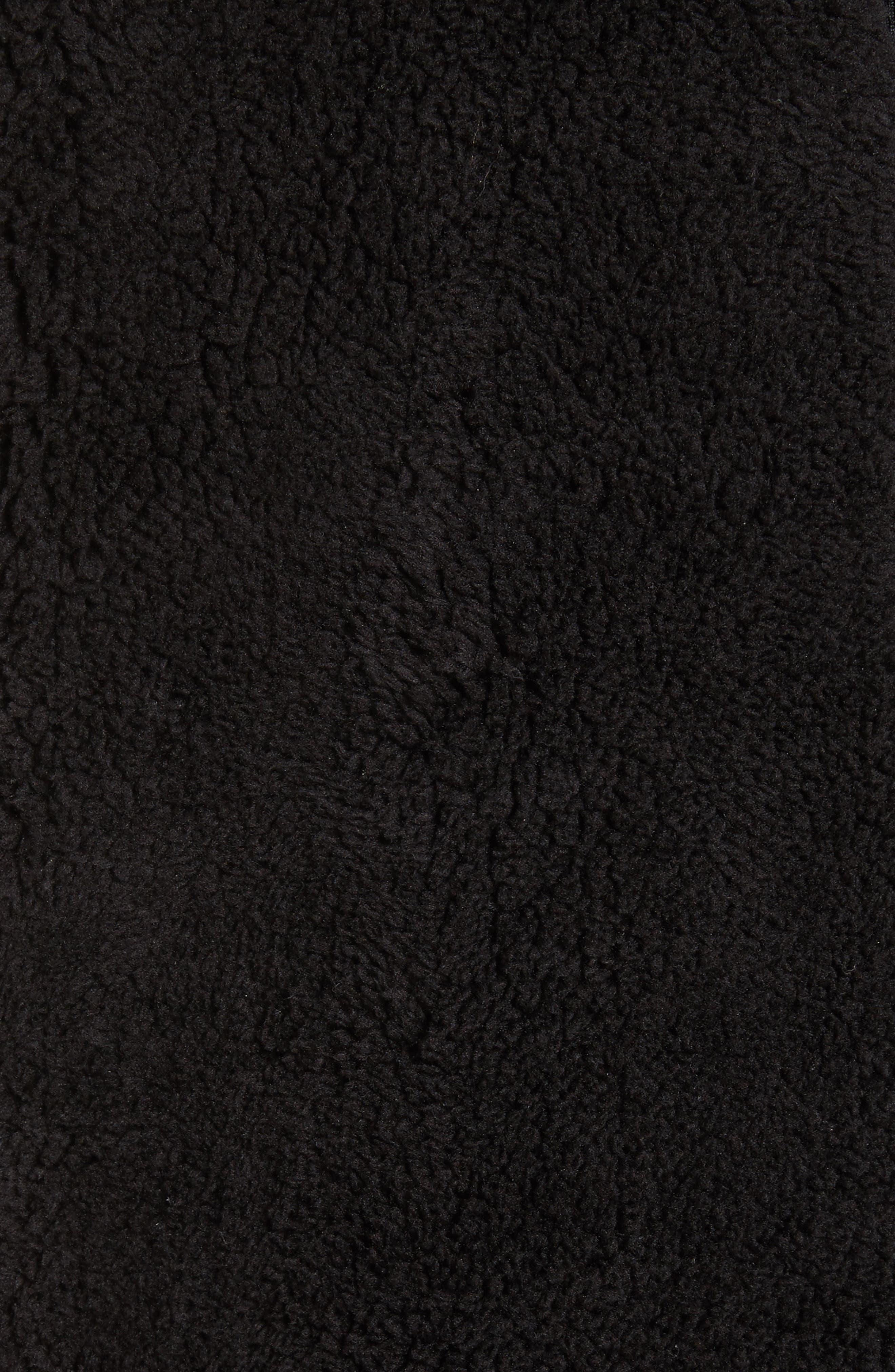Polar Fleece Zip Jacket,                             Alternate thumbnail 6, color,                             001