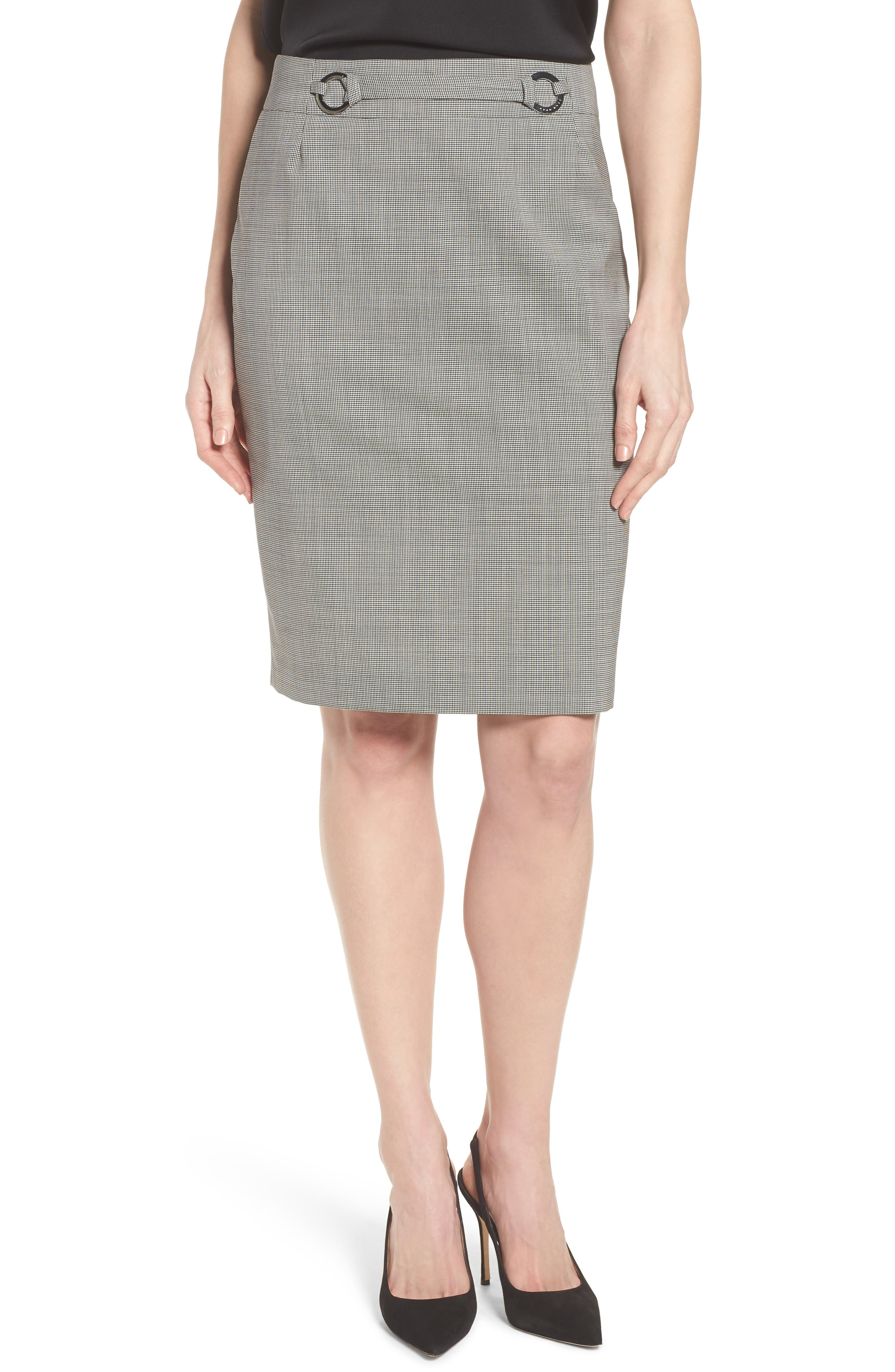 Vavilla Stretch Wool Suit Skirt,                         Main,                         color, 006