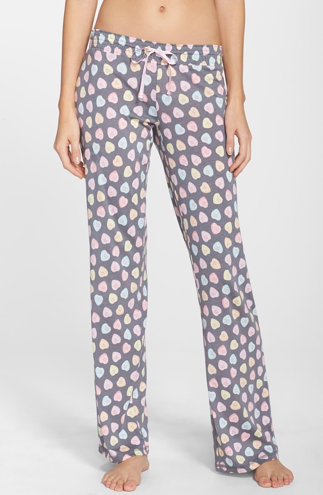 PJ SALVAGE 'Candy Hearts' Pajama Pants, Main, color, 020