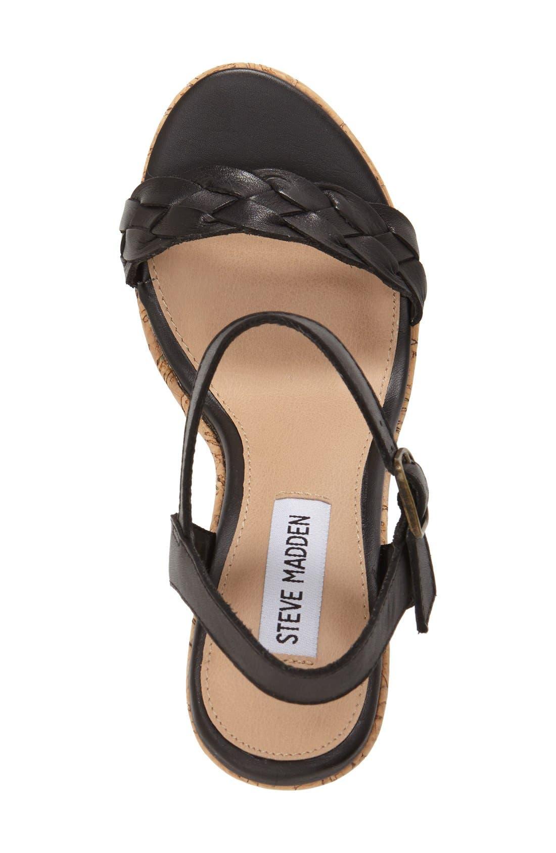 'Emmey' Platform Wedge Sandal,                             Alternate thumbnail 4, color,                             001