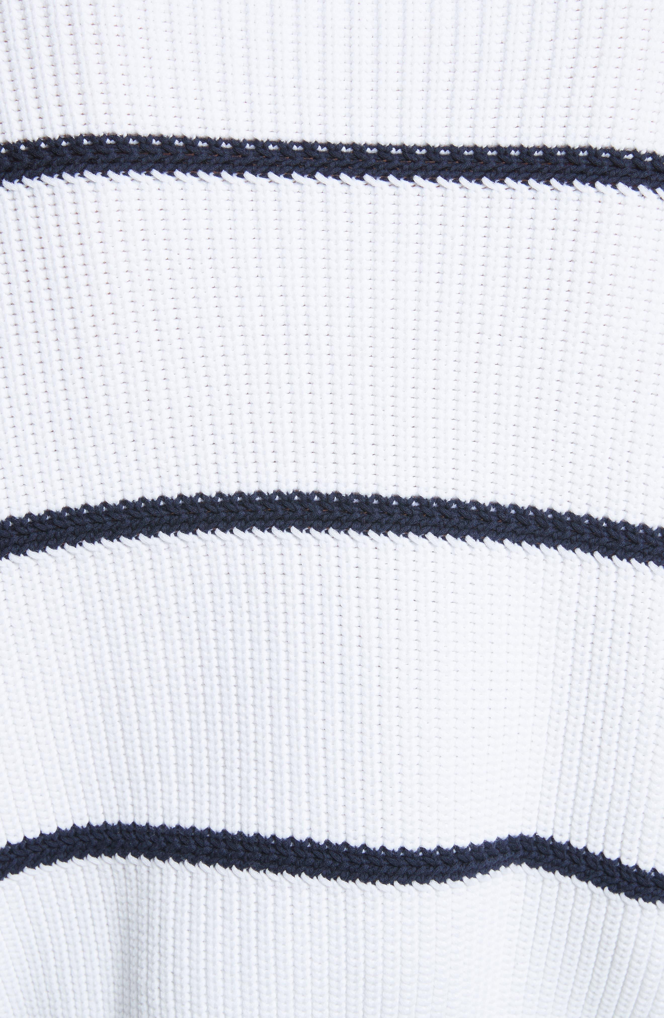 Cotton Blend Rib Knit Stripe Sweater,                             Alternate thumbnail 9, color,