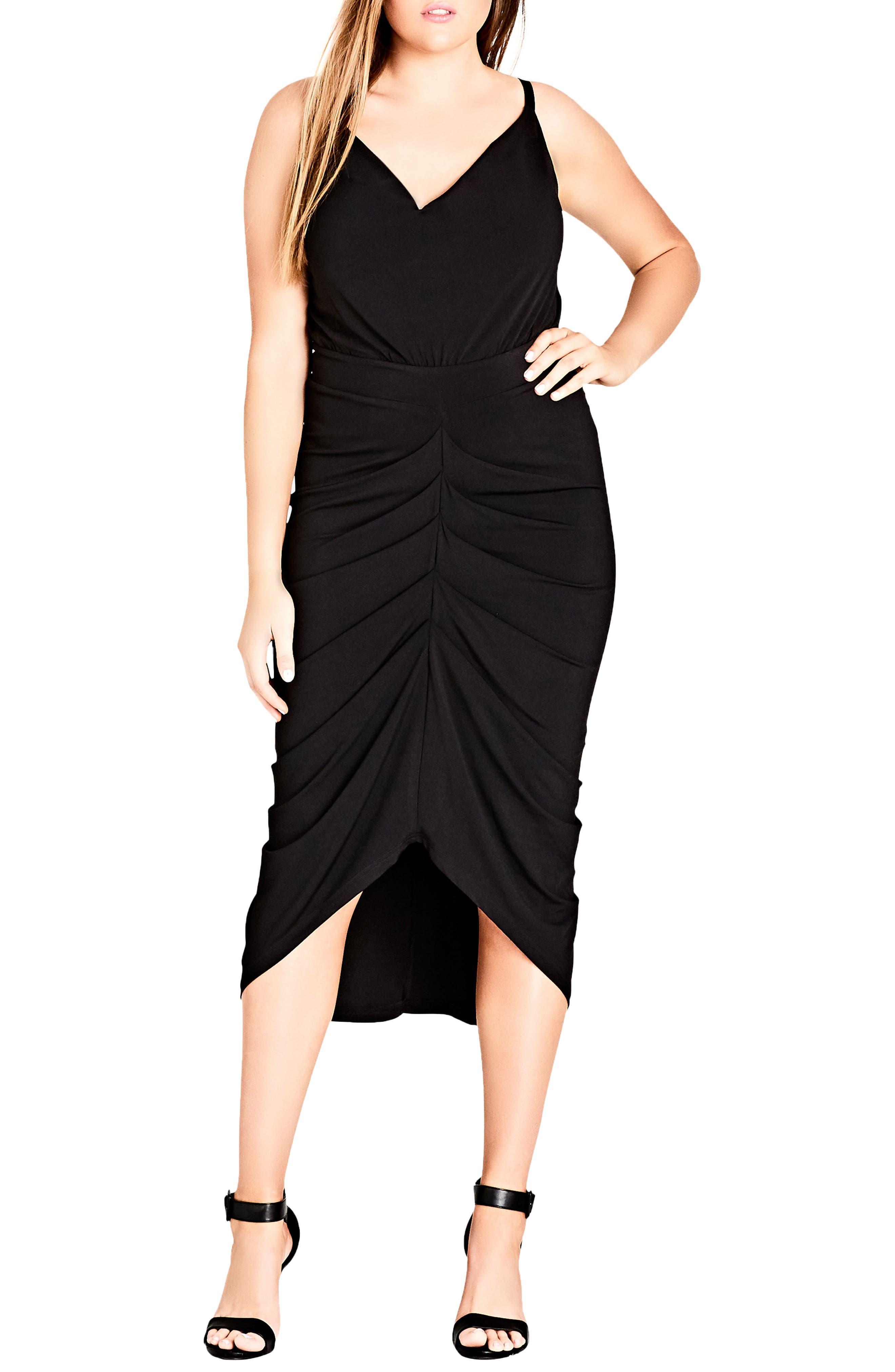 Temptress Dress,                         Main,                         color, BLACK
