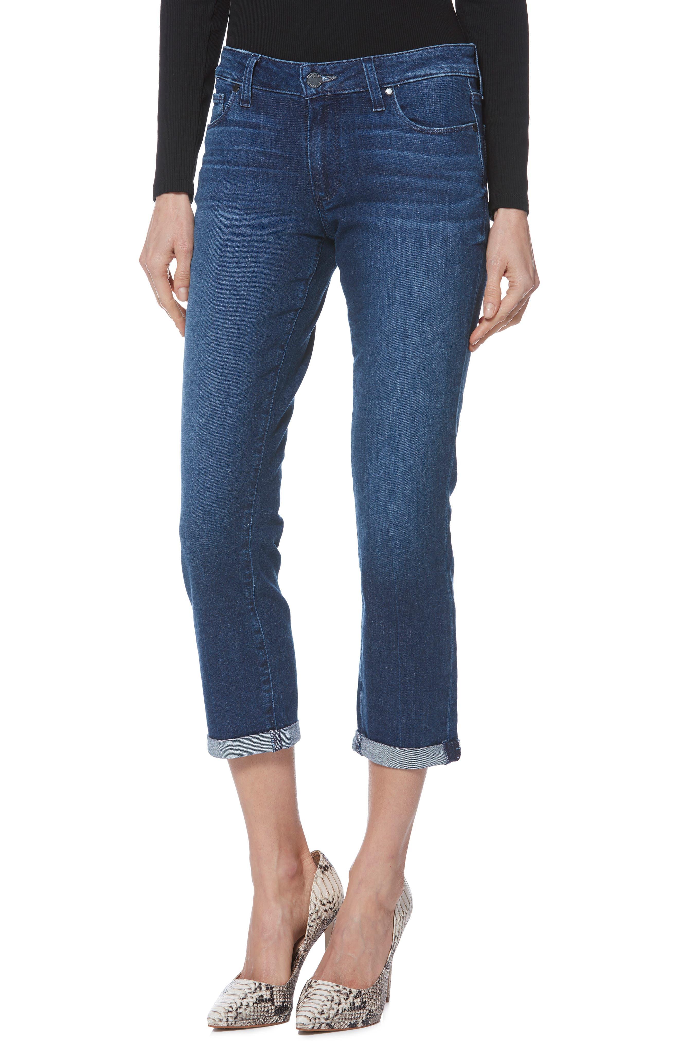 PAIGE Brigitte Crop Boyfriend Jeans, Main, color, NAPLES