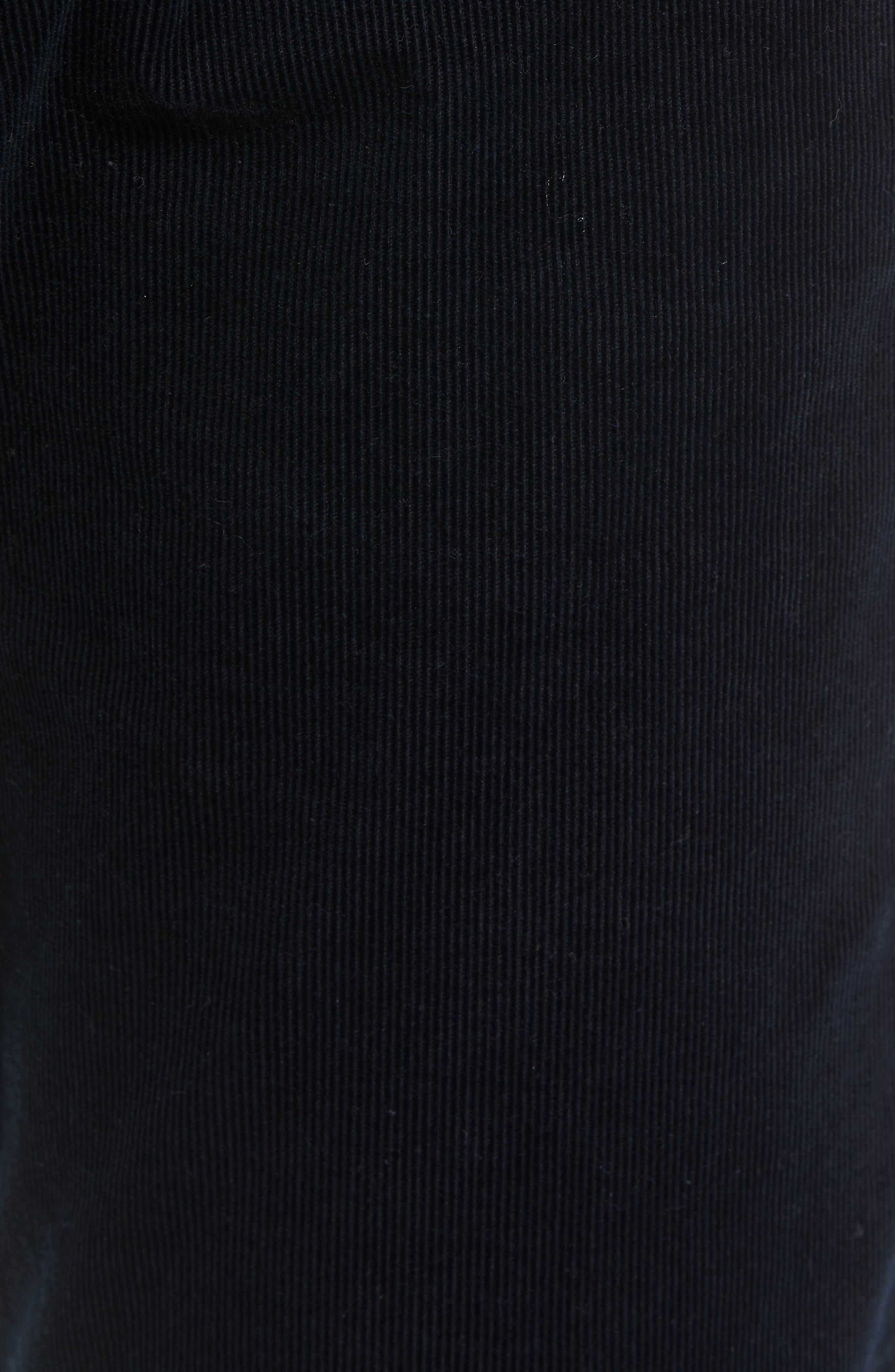 Dylan Slim Fit Corduroy Pants,                             Alternate thumbnail 5, color,                             001