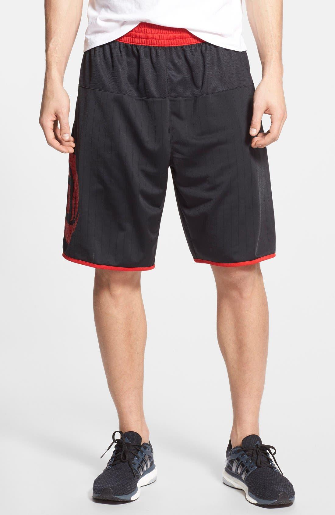 'D. Rose Jamfest' Basketball Shorts, Main, color, 001