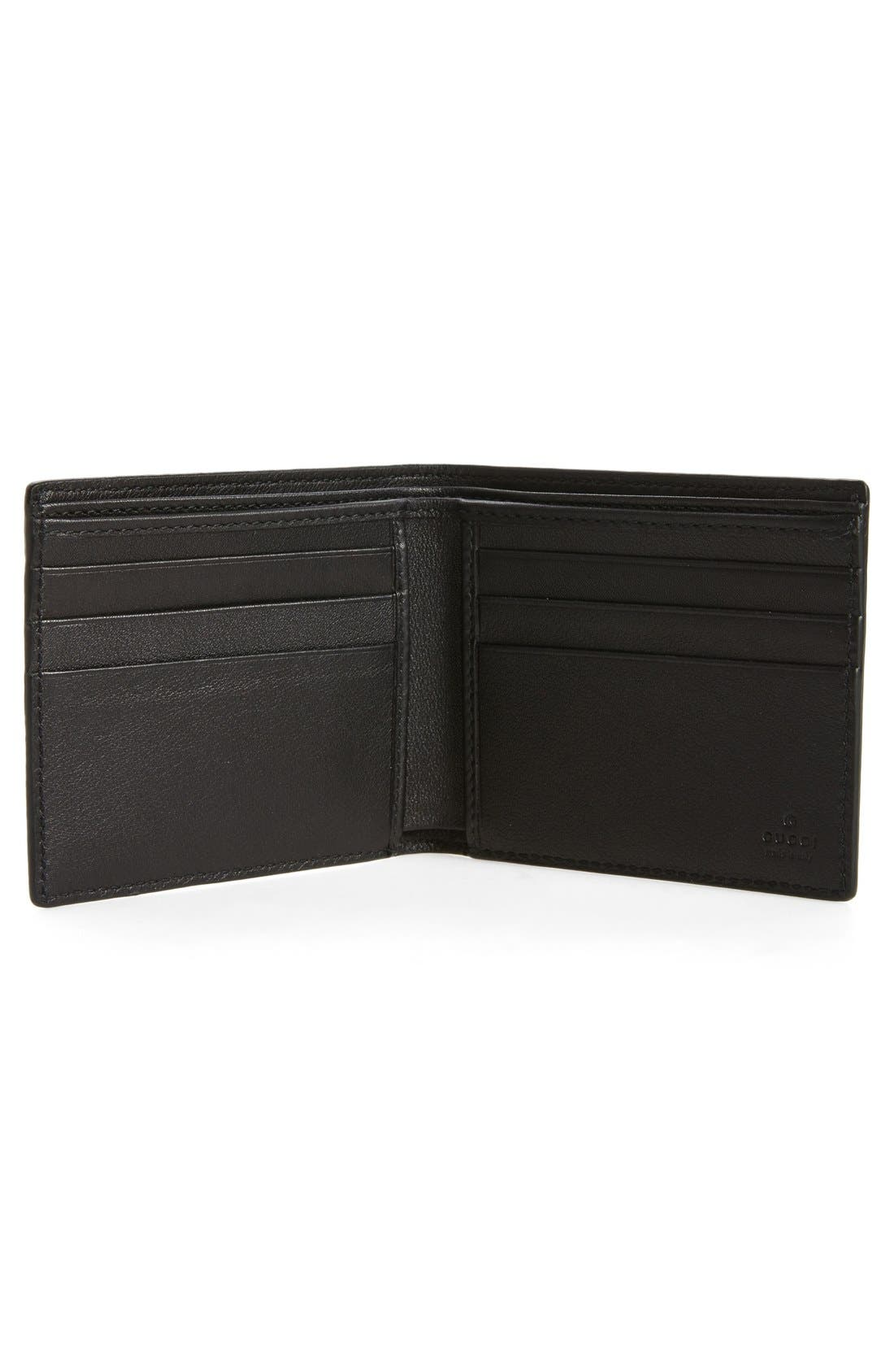 Logo Embossed Calfskin Leather Wallet,                             Alternate thumbnail 2, color,                             002