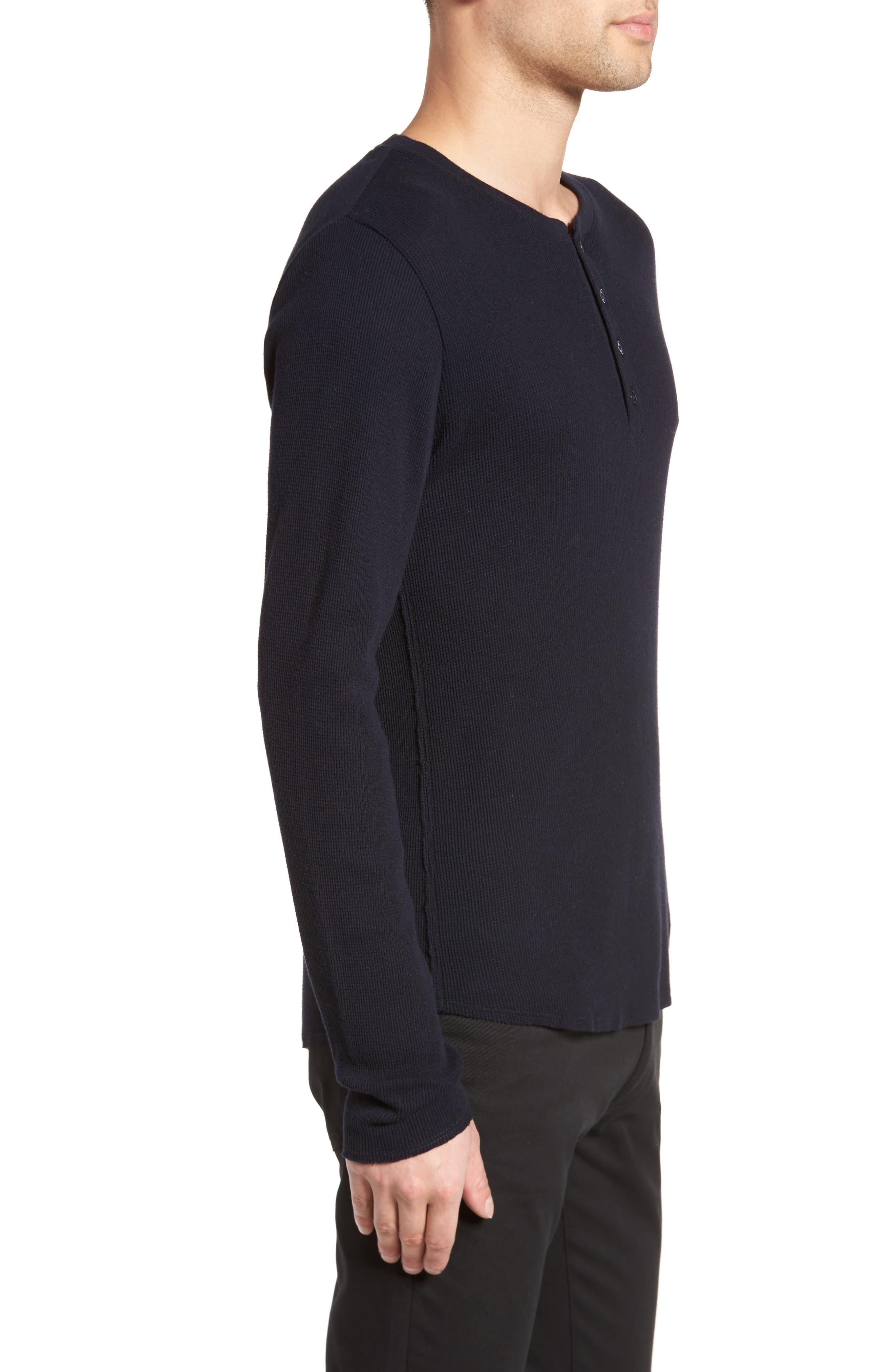 Thermal Knit Long Sleeve Henley T-Shirt,                             Alternate thumbnail 6, color,
