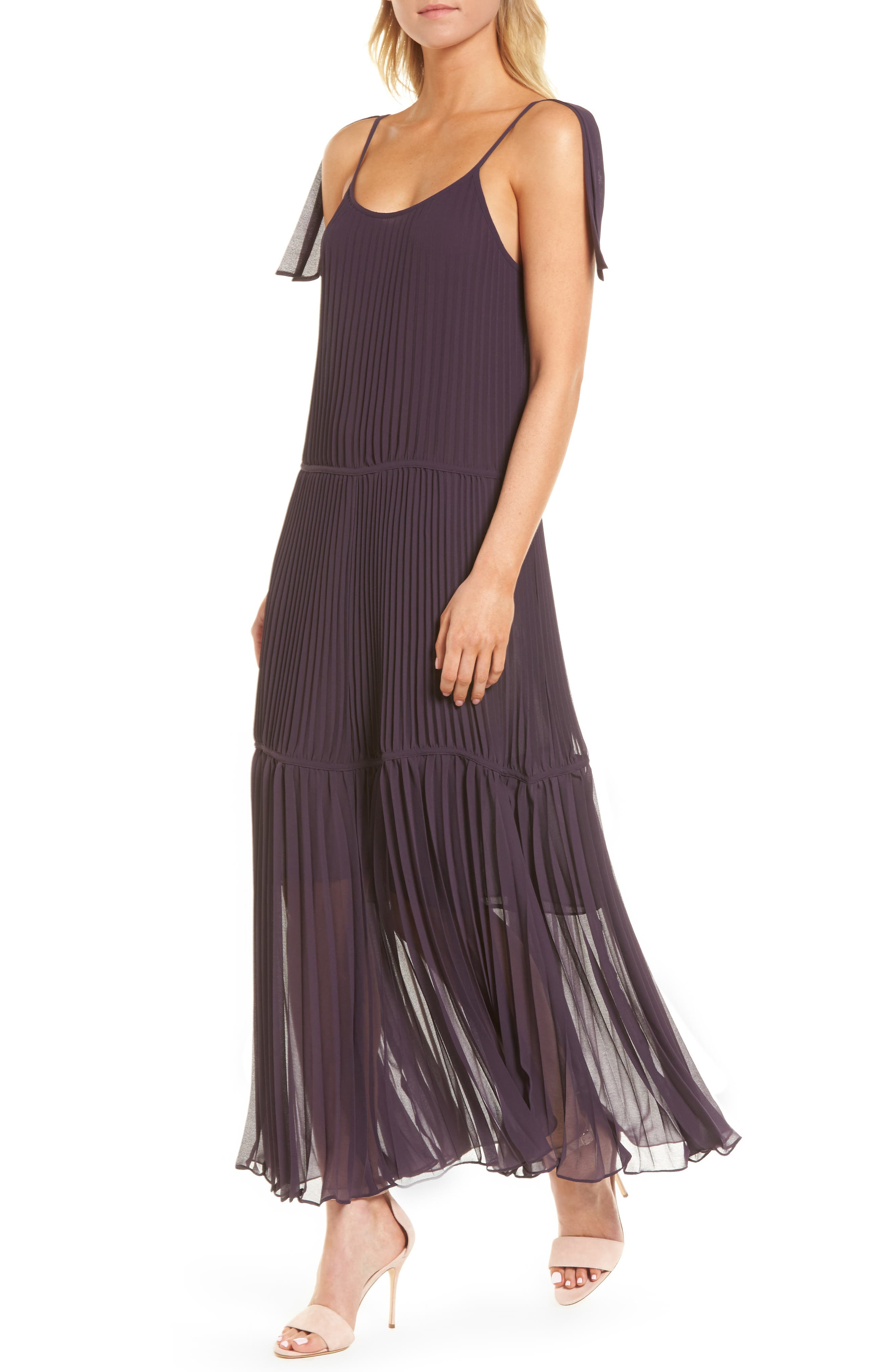 Chiffon Maxi Dress,                             Main thumbnail 2, color,