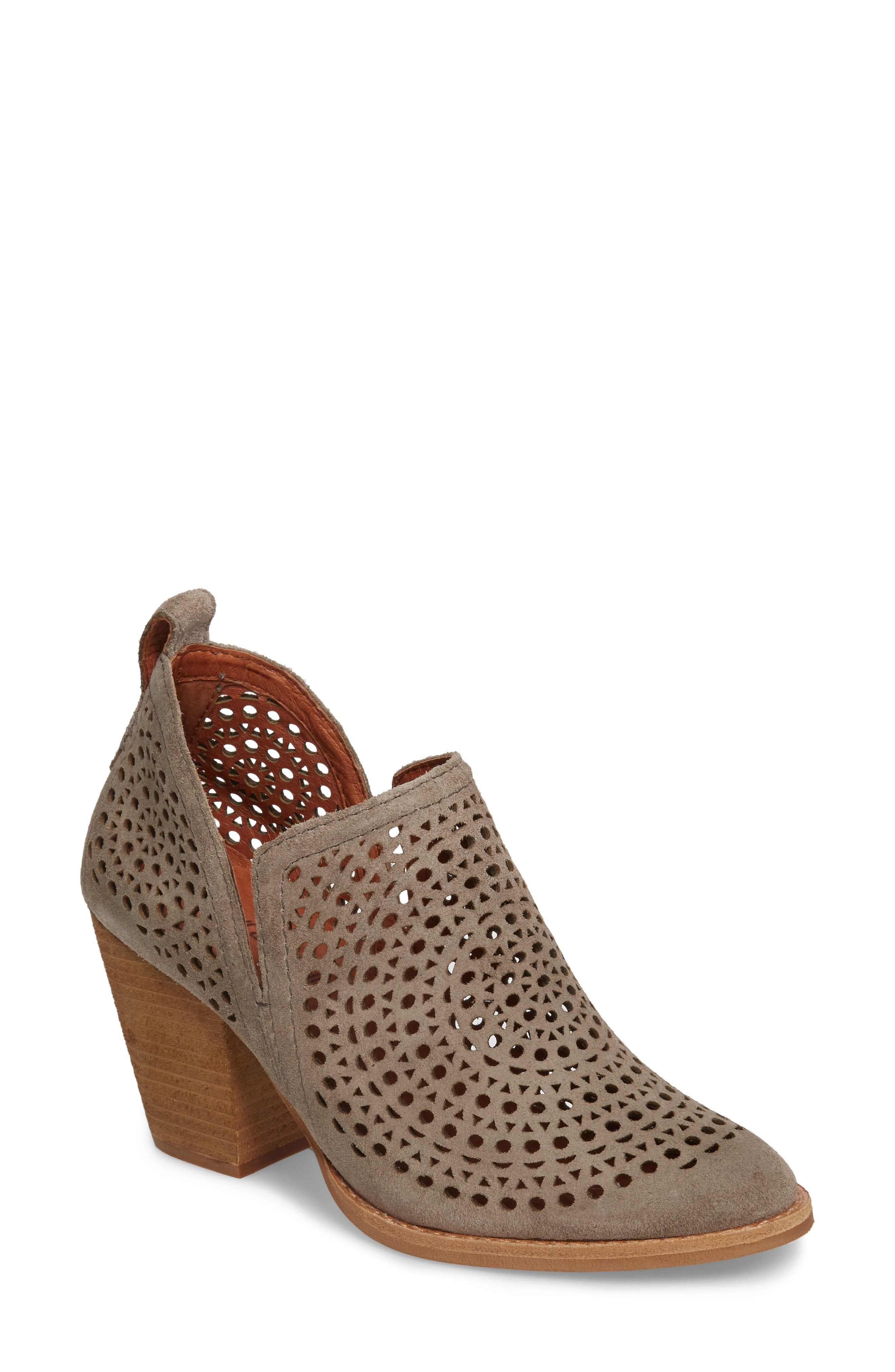 Rosalee Bootie,                             Main thumbnail 1, color,                             TAUPE SUEDE