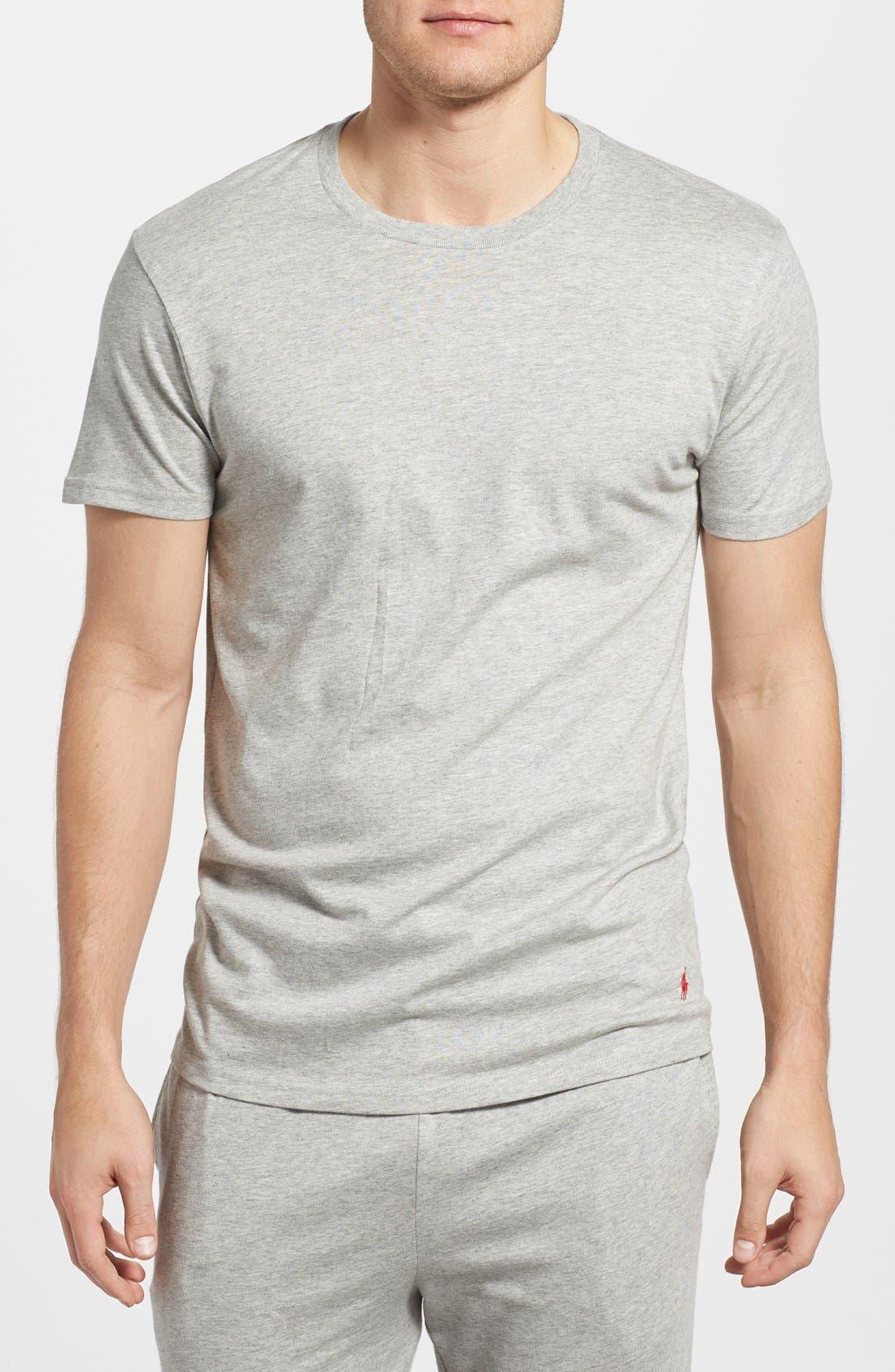 Crewneck T-Shirt,                         Main,                         color, ANDOVER HEATHER
