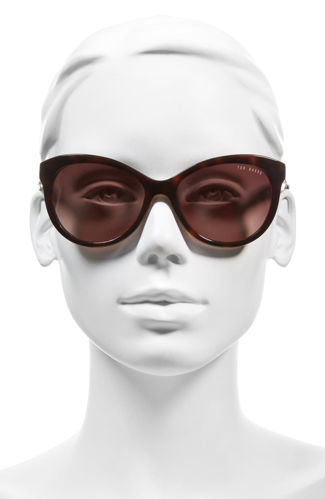 56mm Cat Eye Sunglasses,                             Alternate thumbnail 5, color,