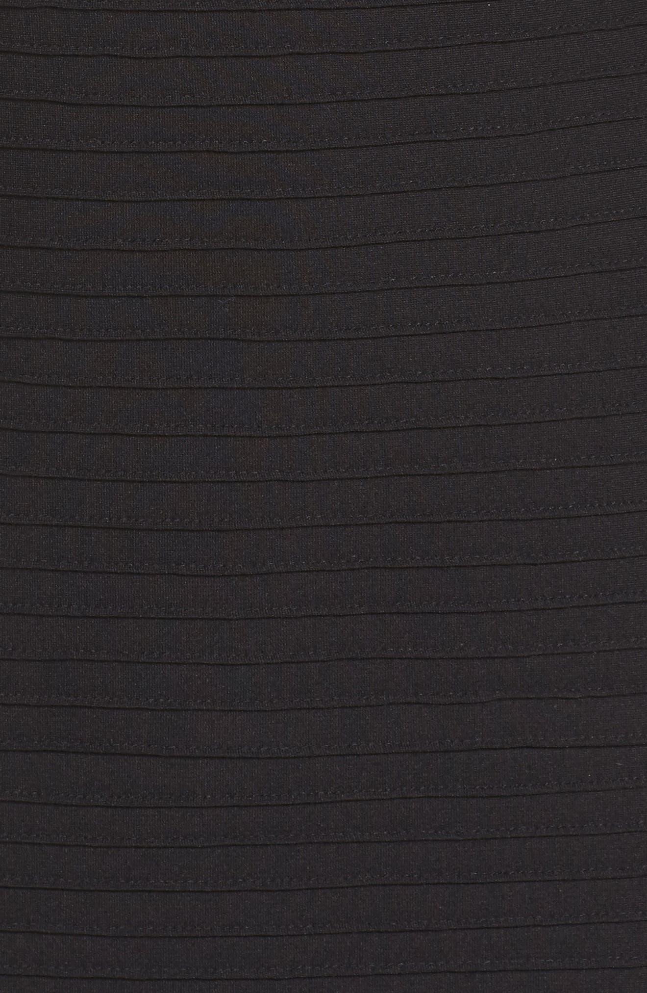 Mesh Inset Gown,                             Alternate thumbnail 5, color,                             001