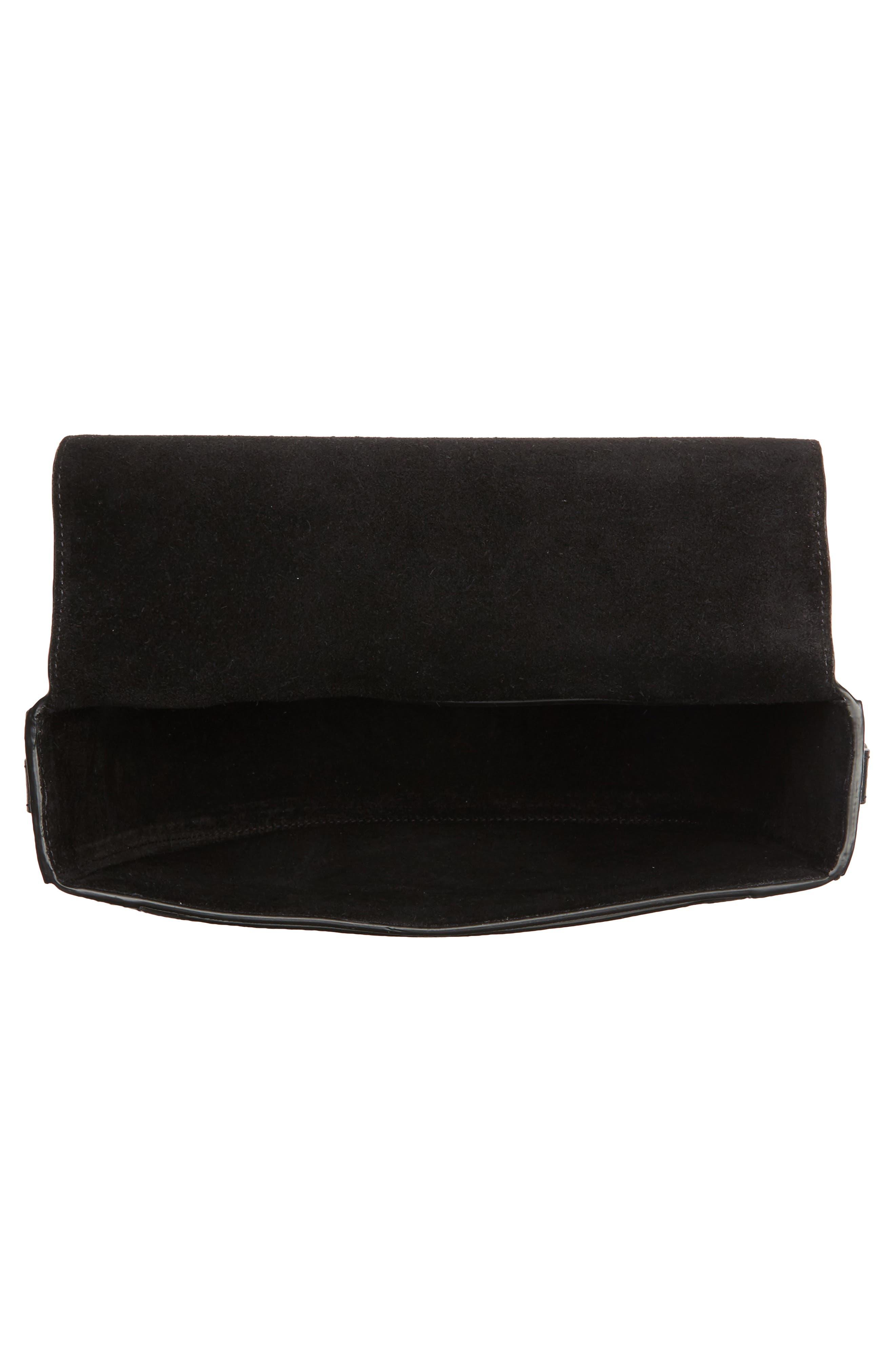 Tenby Calfskin Leather Crossbody Bag,                             Alternate thumbnail 4, color,                             001