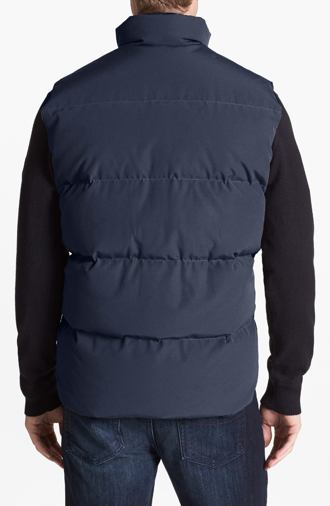 'Freestyle' Water Resistant Regular Fit Down Vest,                             Alternate thumbnail 2, color,                             NAVY